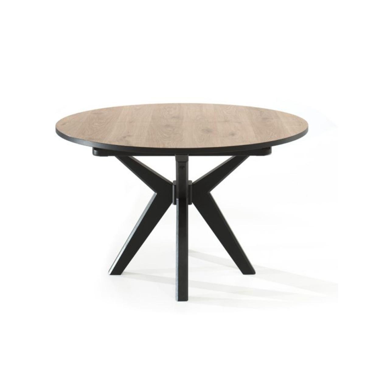 Nouvomeuble Table 130 cm ronde couleur chêne naturel ESTELLE