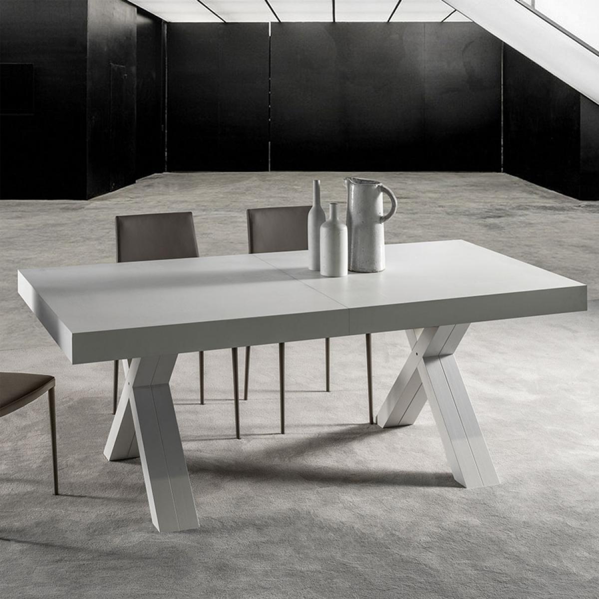 Nouvomeuble Table blanche extensible 5 mètres COPERTINO