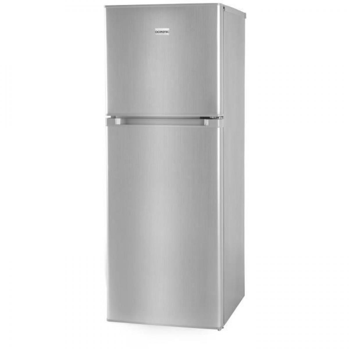 Oceanic Oceanic Oceaf2d134s-refrigerateur-134l 95l + 39l-2 Portes-congelateur Haut-froid Statique-a+-l 48 X H 126,5 Cm-silver