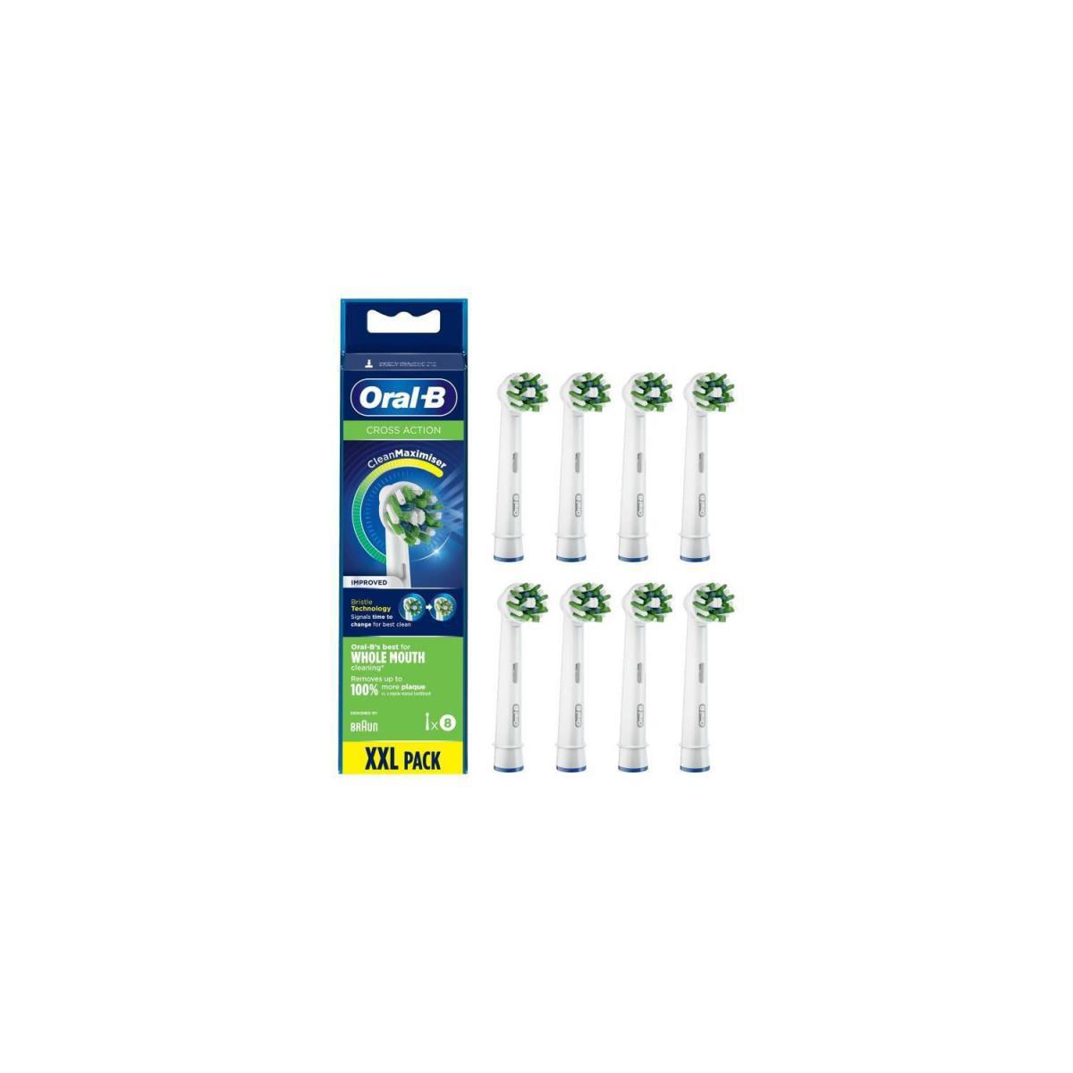 Oral-B Oral-B CrossAction Brossette Avec CleanMaximiser, 8