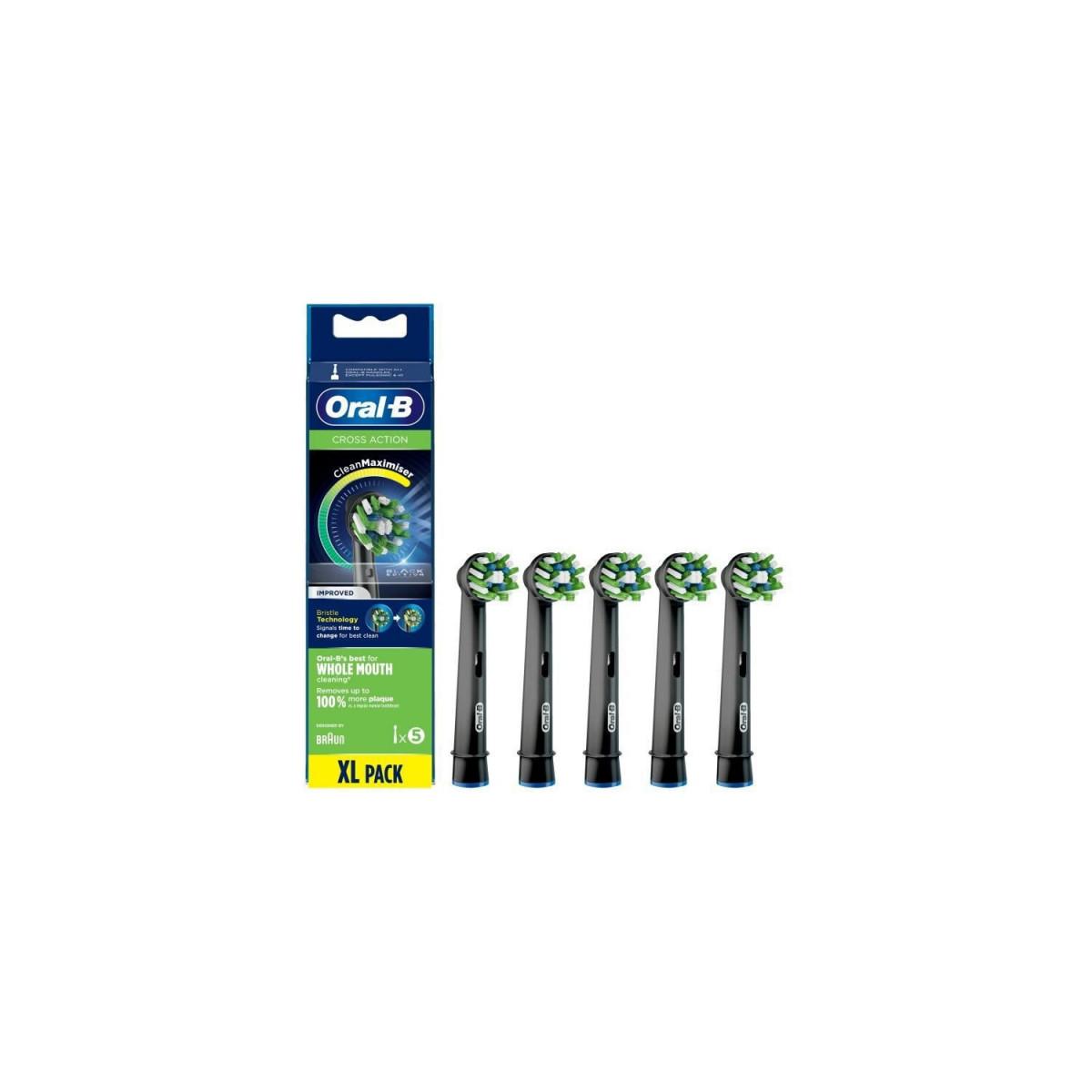 Oral-B Oral-B CrossAction Brossette Avec CleanMaximiser, Noire, 5