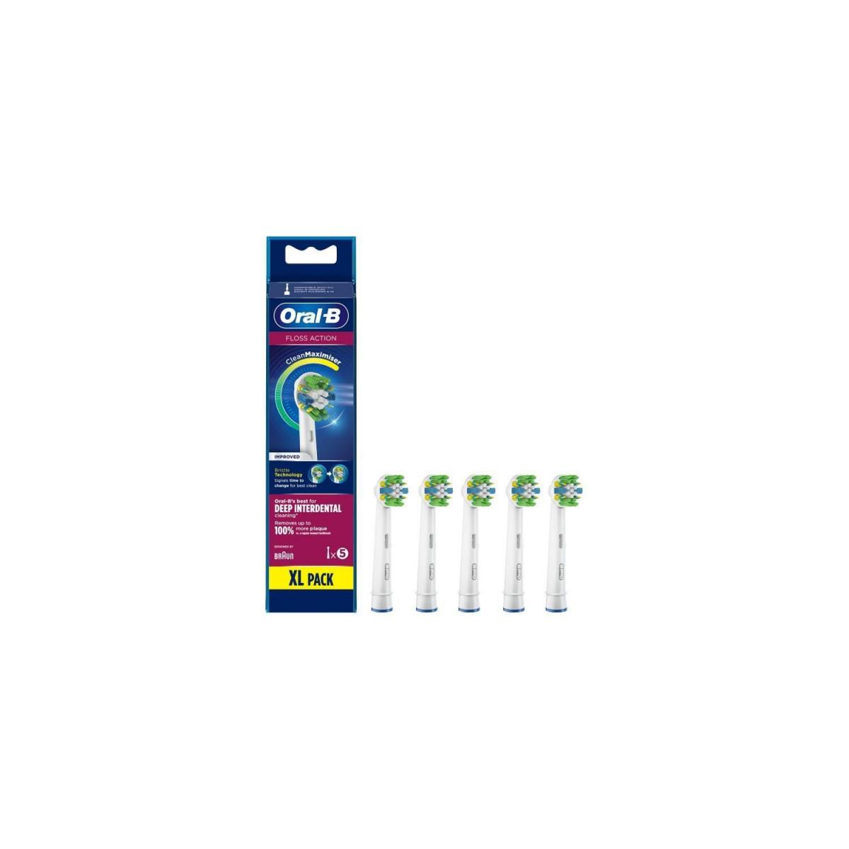 Oral-B Oral-B FlossAction Brossette Avec CleanMaximiser, 5