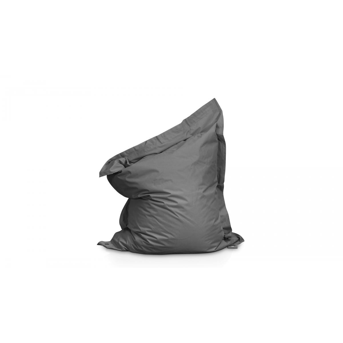 Oviala Pouf XL coussin imperméable - Gris