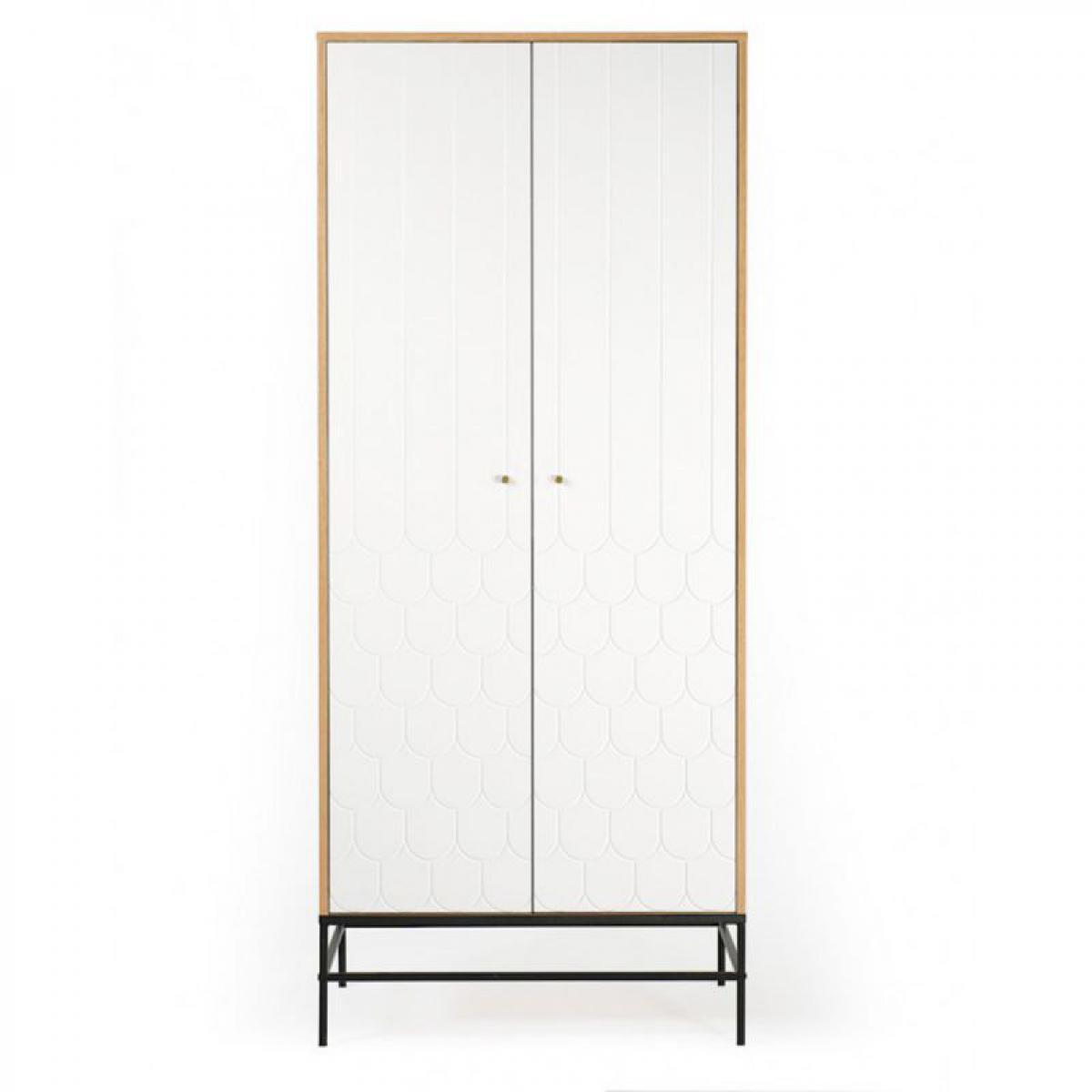 Paris Prix Armoire 2 Portes Design Lia 190cm Blanc