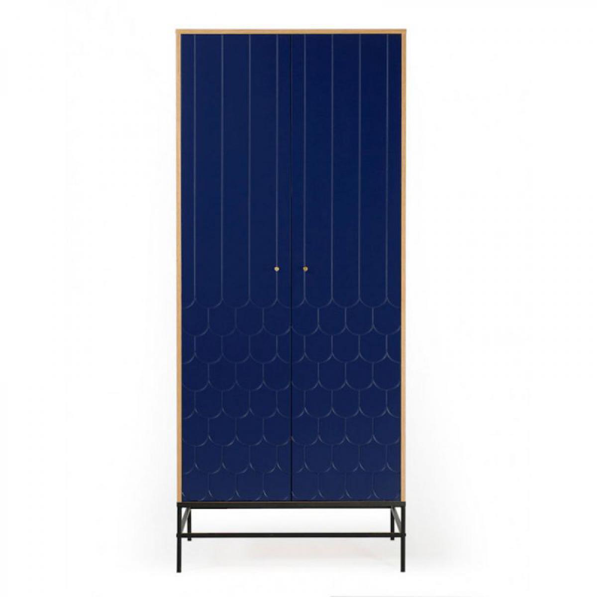 Paris Prix Armoire 2 Portes Design Lia 190cm Bleu