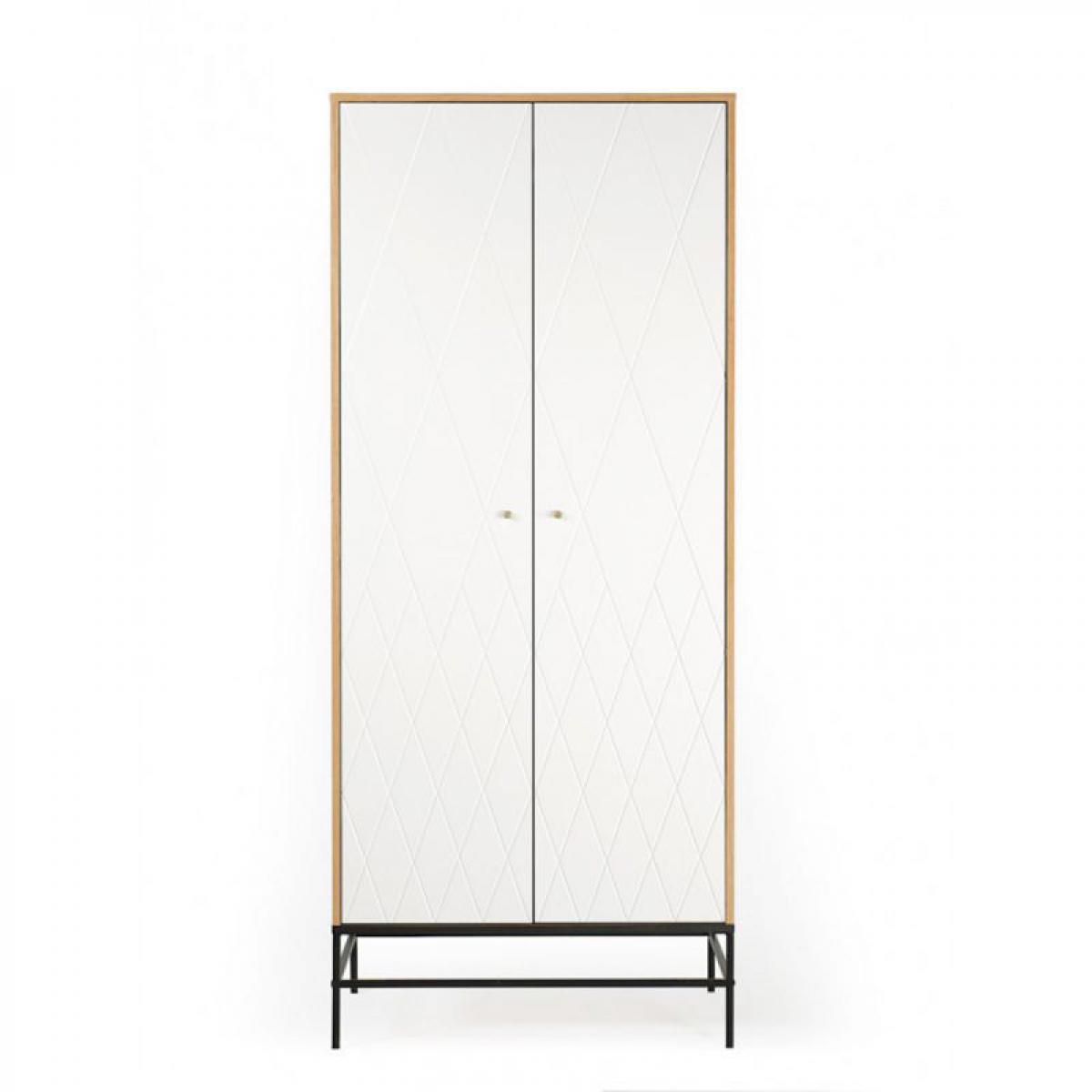 Paris Prix Armoire 2 Portes Design Mian 190cm Blanc