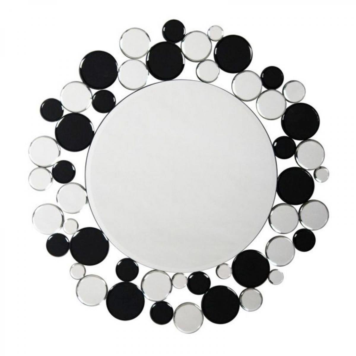 Paris Prix Miroir Mural Design Bubble 80cm Argent & Noir
