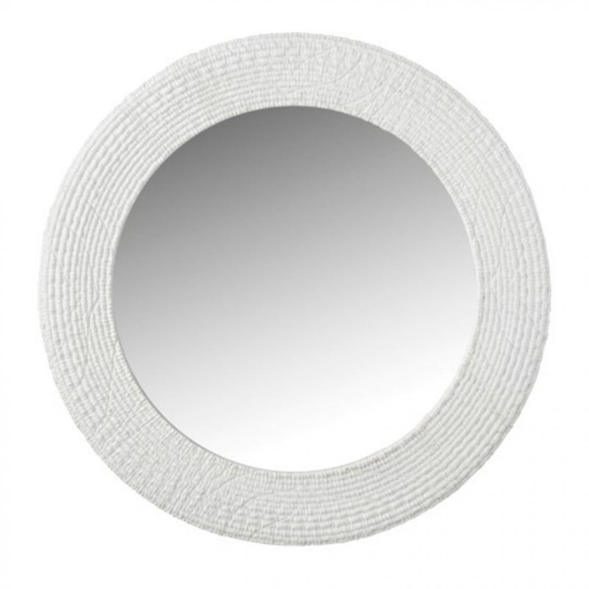 Paris Prix Miroir Mural Rond Design Nervures 50cm Blanc