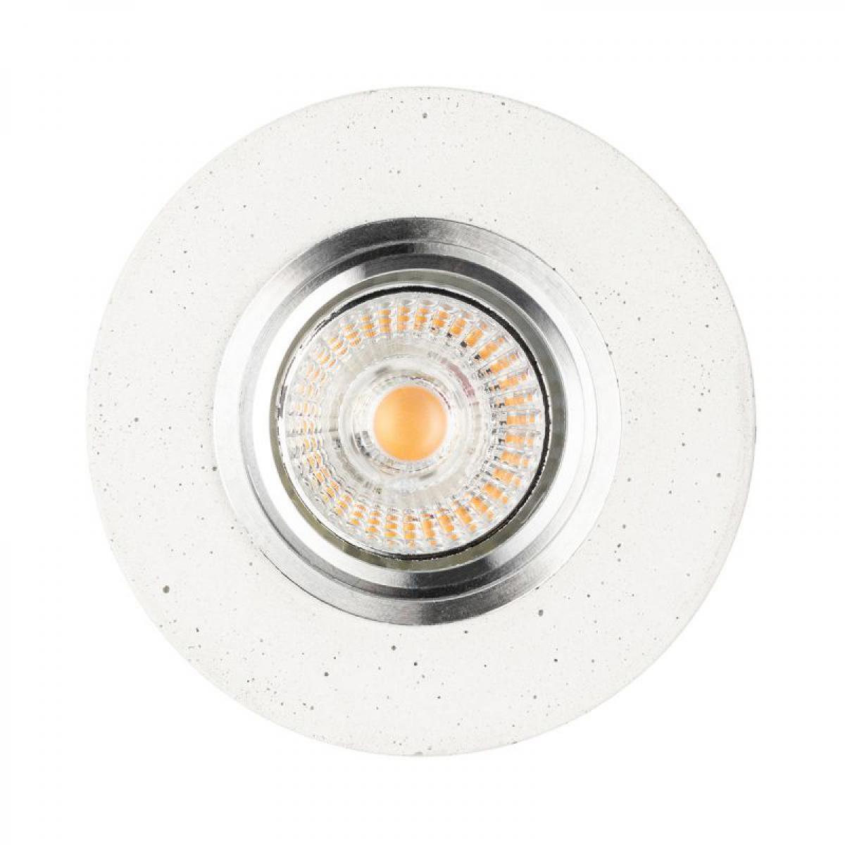 Paris Prix Spot Encastrable Rond LED Béton 10cm Blanc
