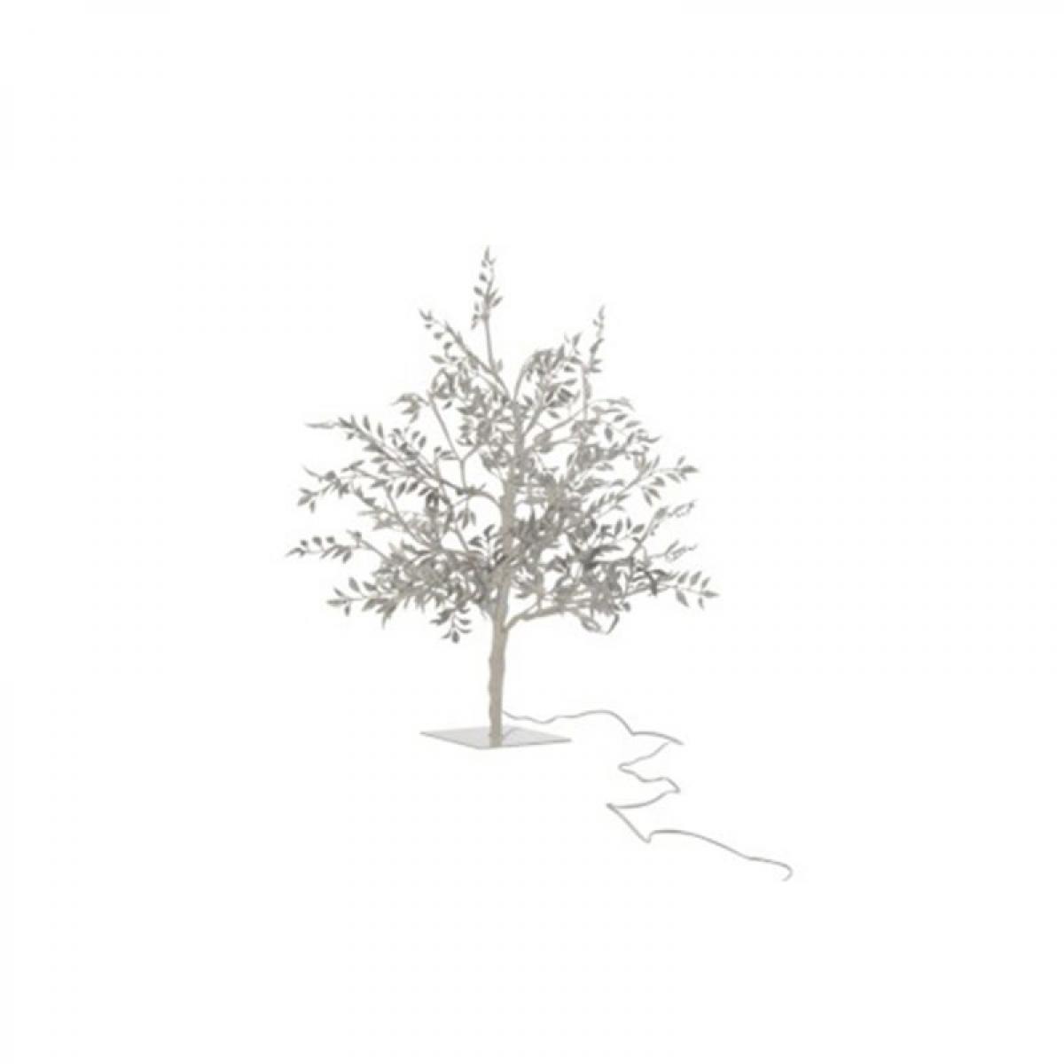 Paris Prix Statue Déco à LED Arbre Feuilles 56cm Argent