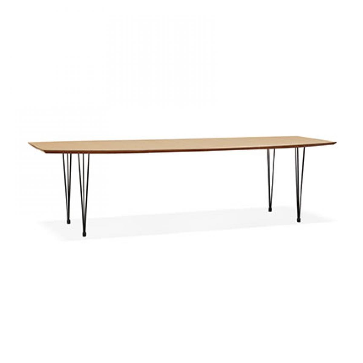Paris Prix Table à manger 270 cm en bois décor naturel et métal