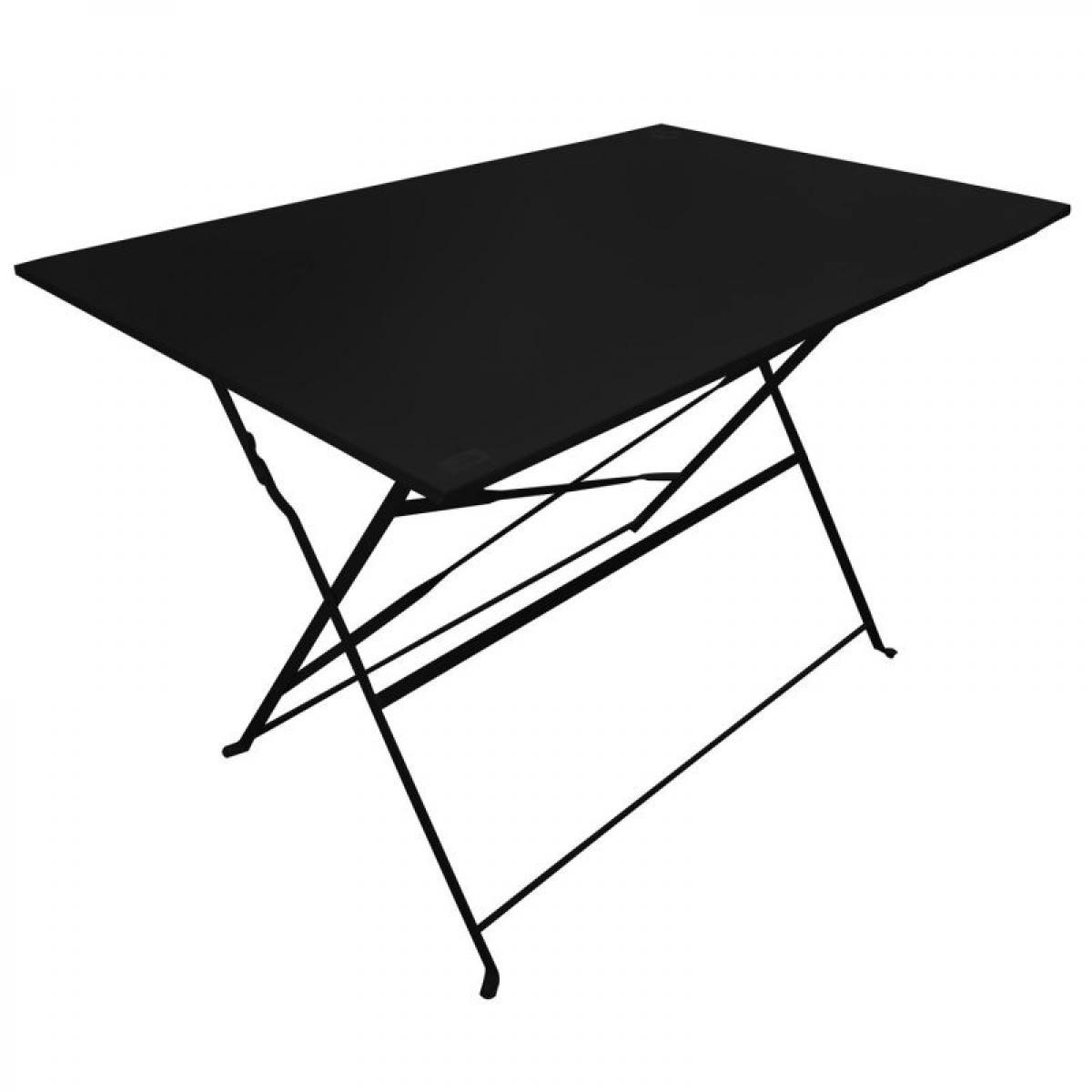 Paris Prix Table de Jardin Pliante Palerme 110cm Noir