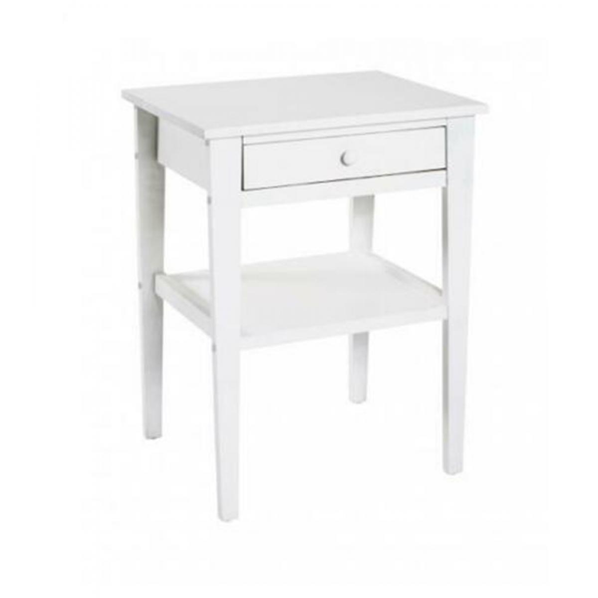 Pegane Commode coloris blanc en MDF - L 40 x P 35 x H 60 cm