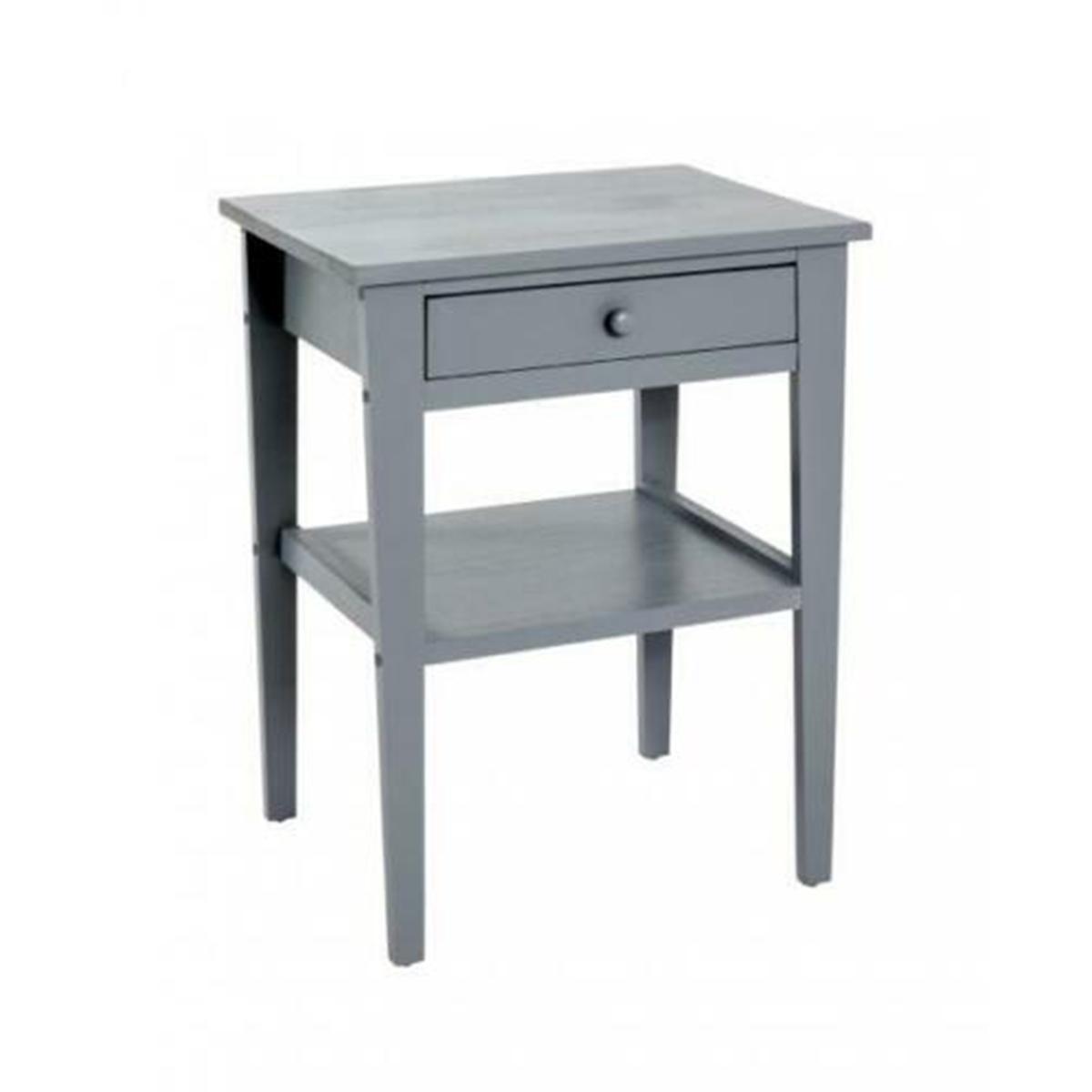 Pegane Commode coloris gris en bois - L 46 x P 35 x H 60 cm