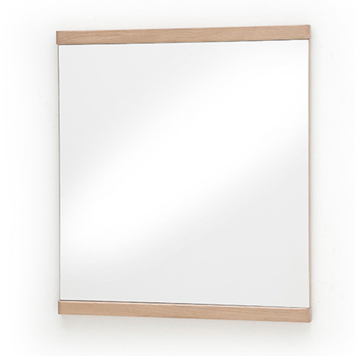 Pegane Miroir design en bois coloris chêne sombre - L.75 x H.82 x P.3 cm