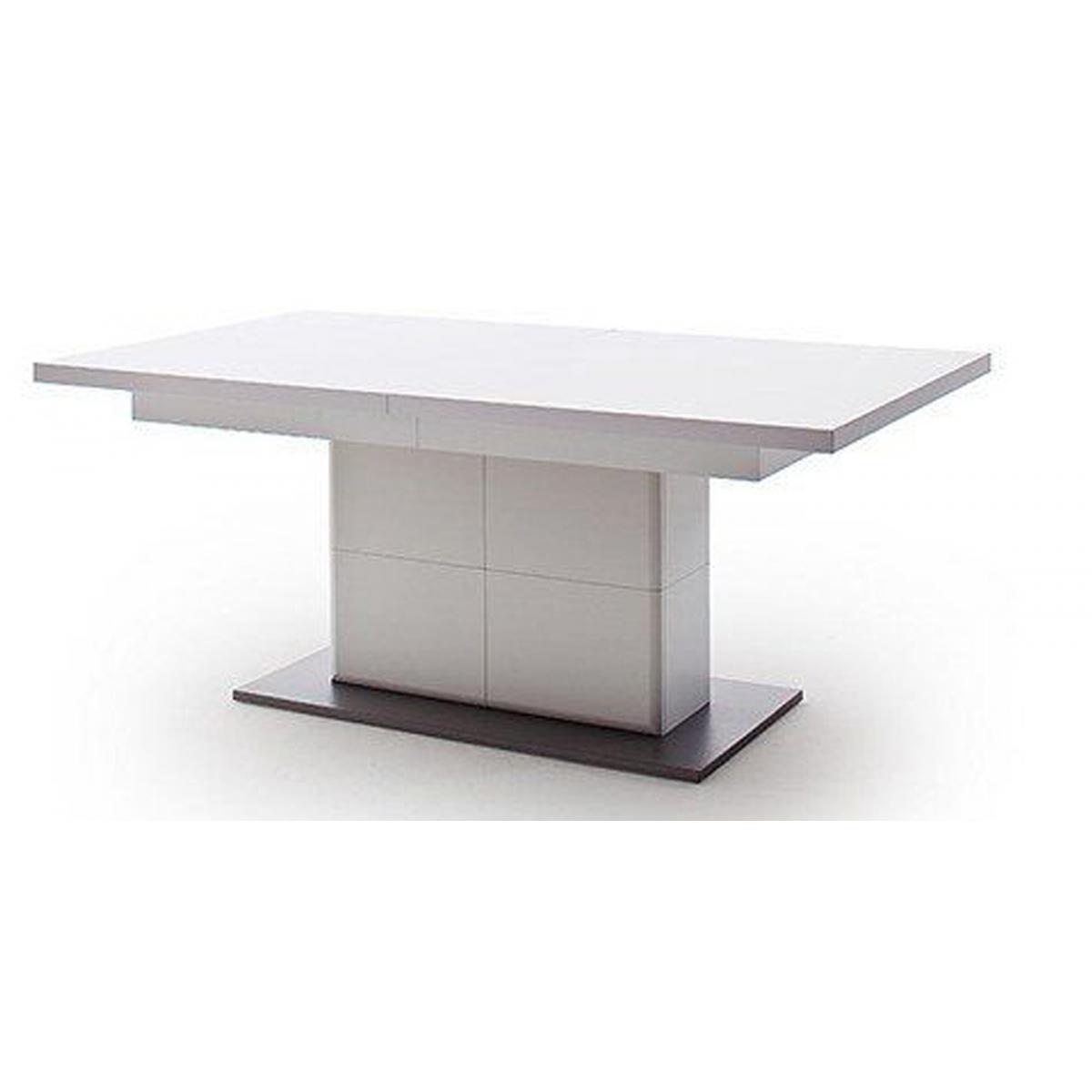 Pegane Table à manger extensible en bois coloris blanc mat - L.180-280 x H.77 x P.100 cm