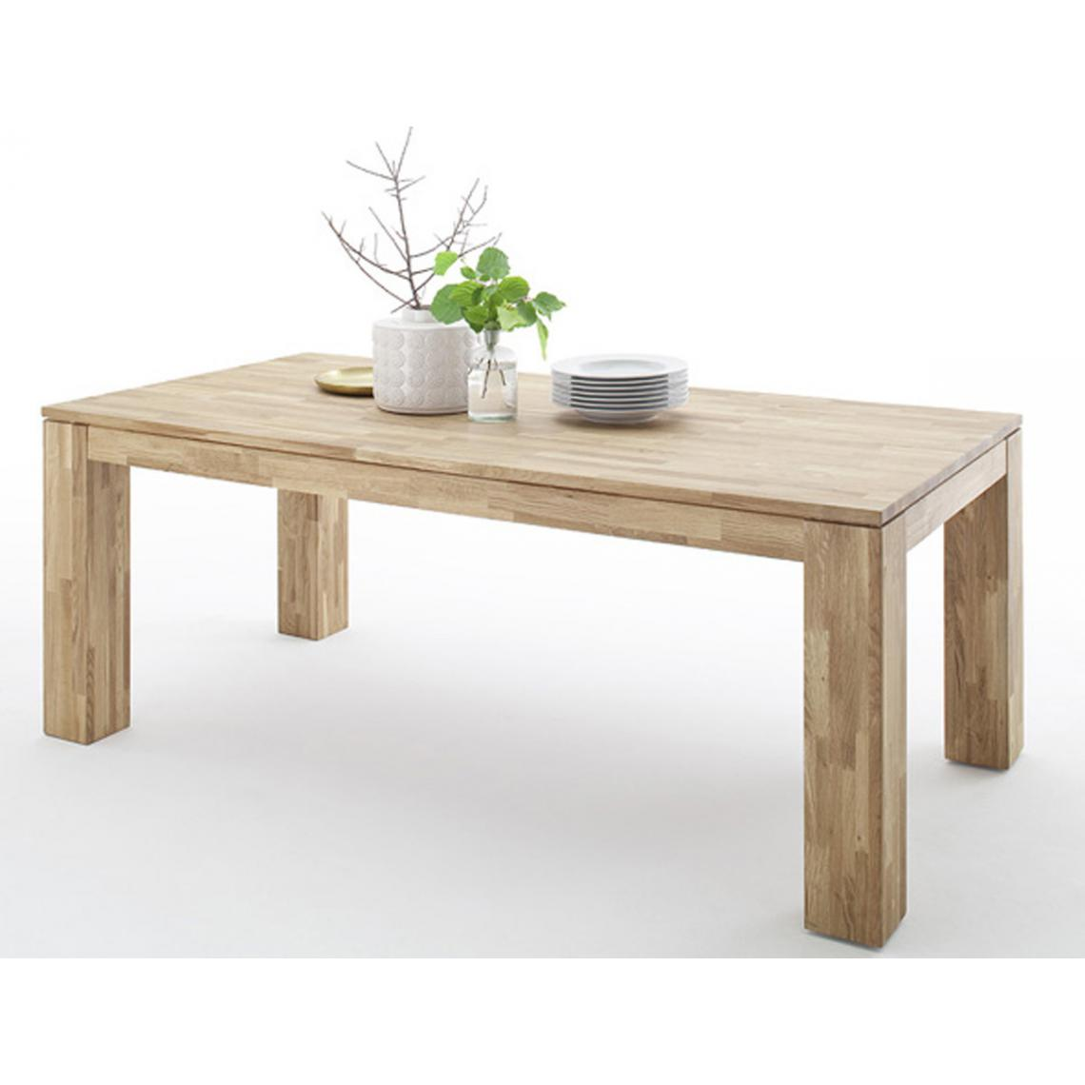 Pegane Table de salle à manger extensible en chêne sauvage - L.200-280 x H.77 x P.100 cm -PEGANE-