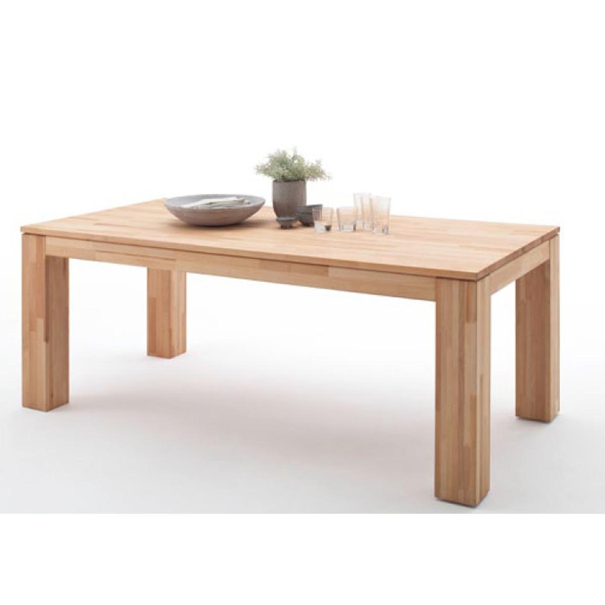 Pegane Table de salle à manger extensible en hêtre massif huilé - L.200-280 x H.77 x P.100 cm -PEGANE-
