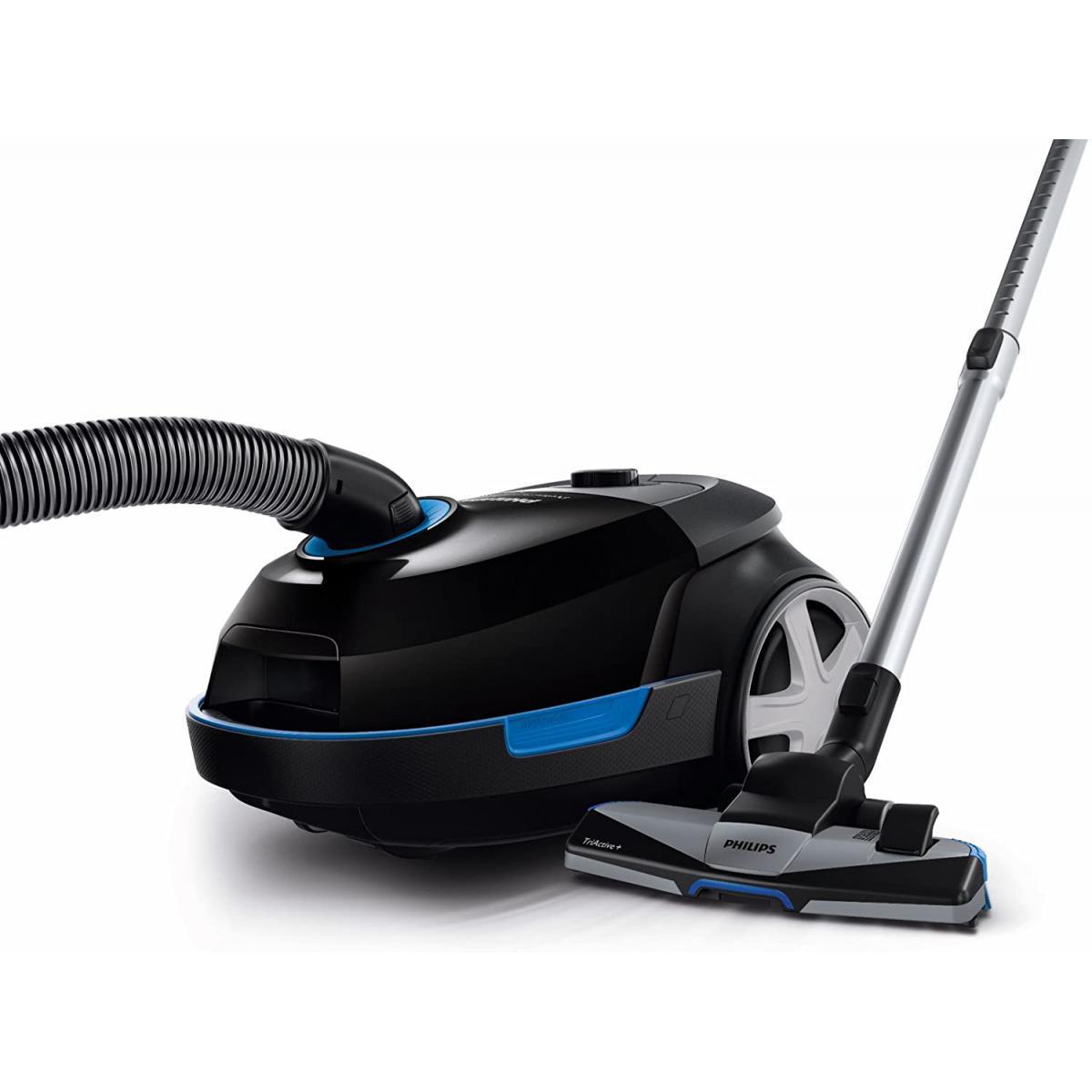 Philips aspirateur avec sac de 4L 650W spécial poils d'animaux bleu noir