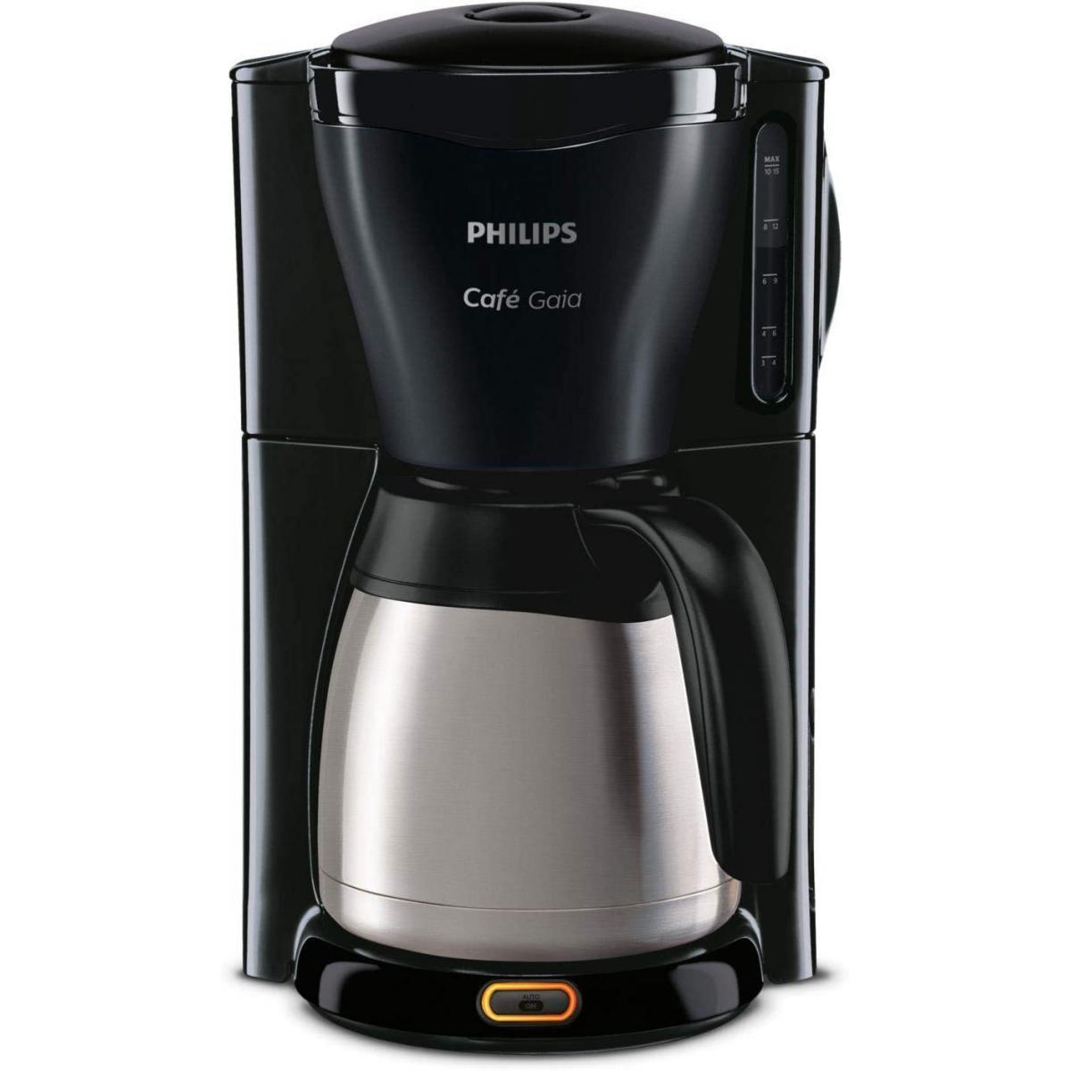 Philips cafetière électrique programamble de 1,2L 1000W gris noir
