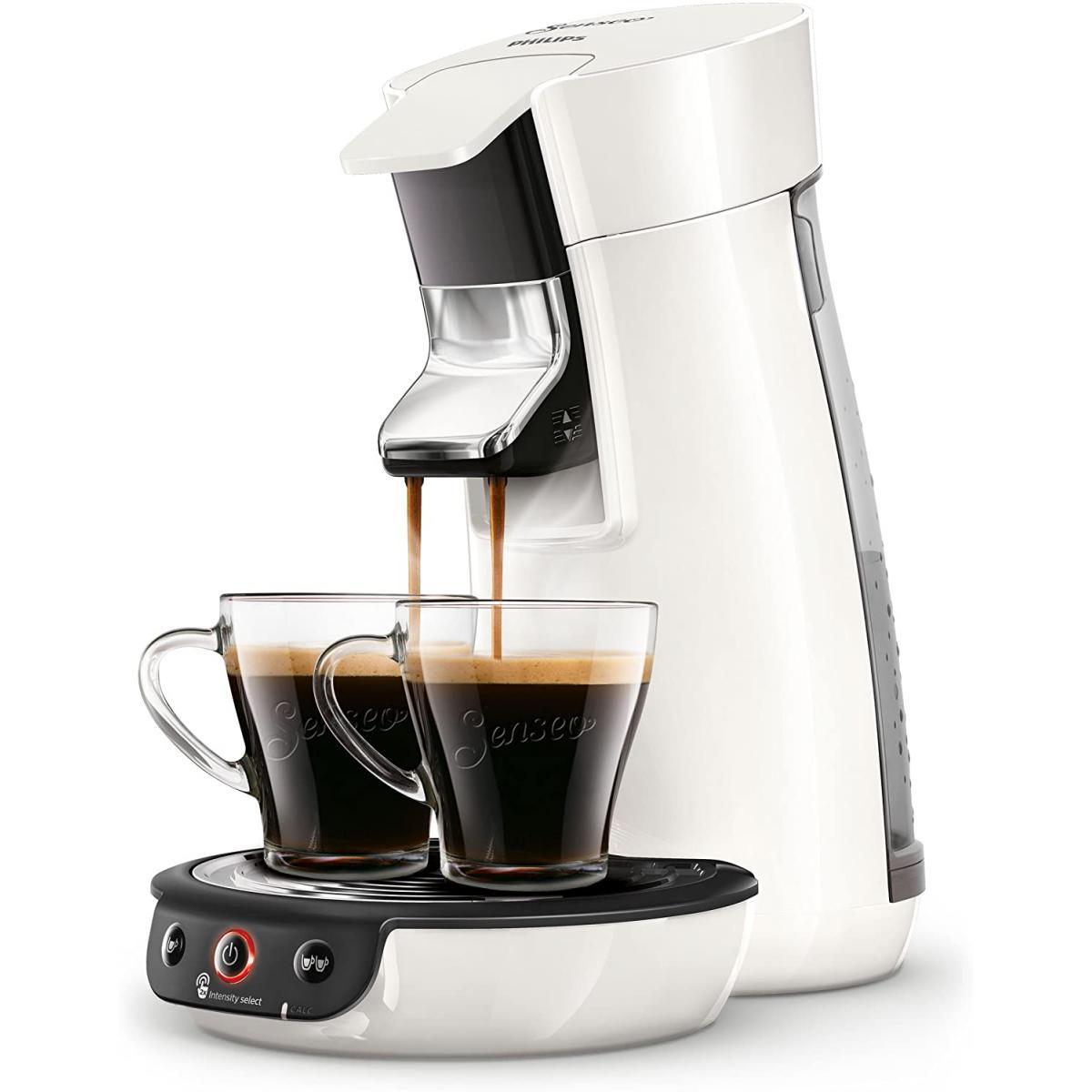Philips machine à café à dosettes 1450W blanc