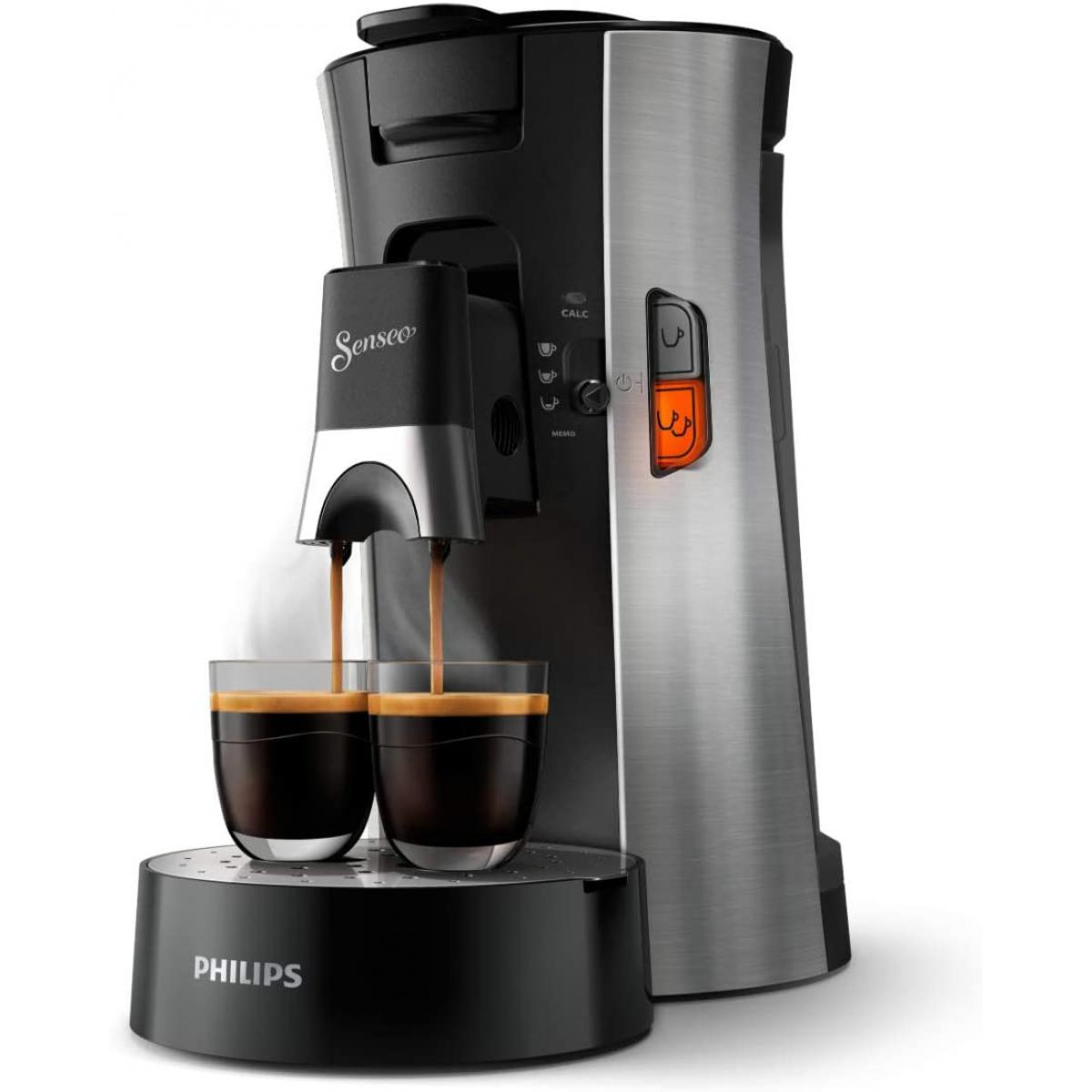Philips machine à café à dosettes 1450W noir gris