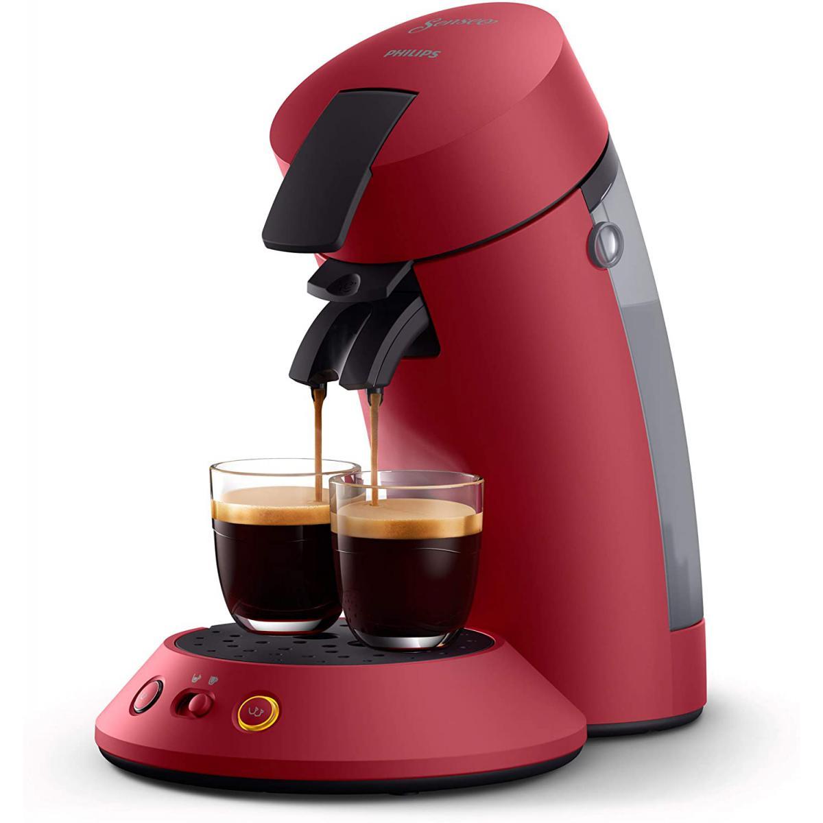 Philips machine à café dosettes SENSEO Original+ rouge