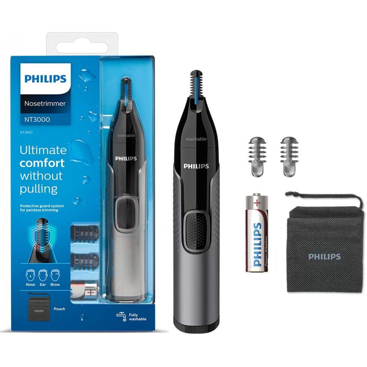 Philips tondeuse à nez gris noir
