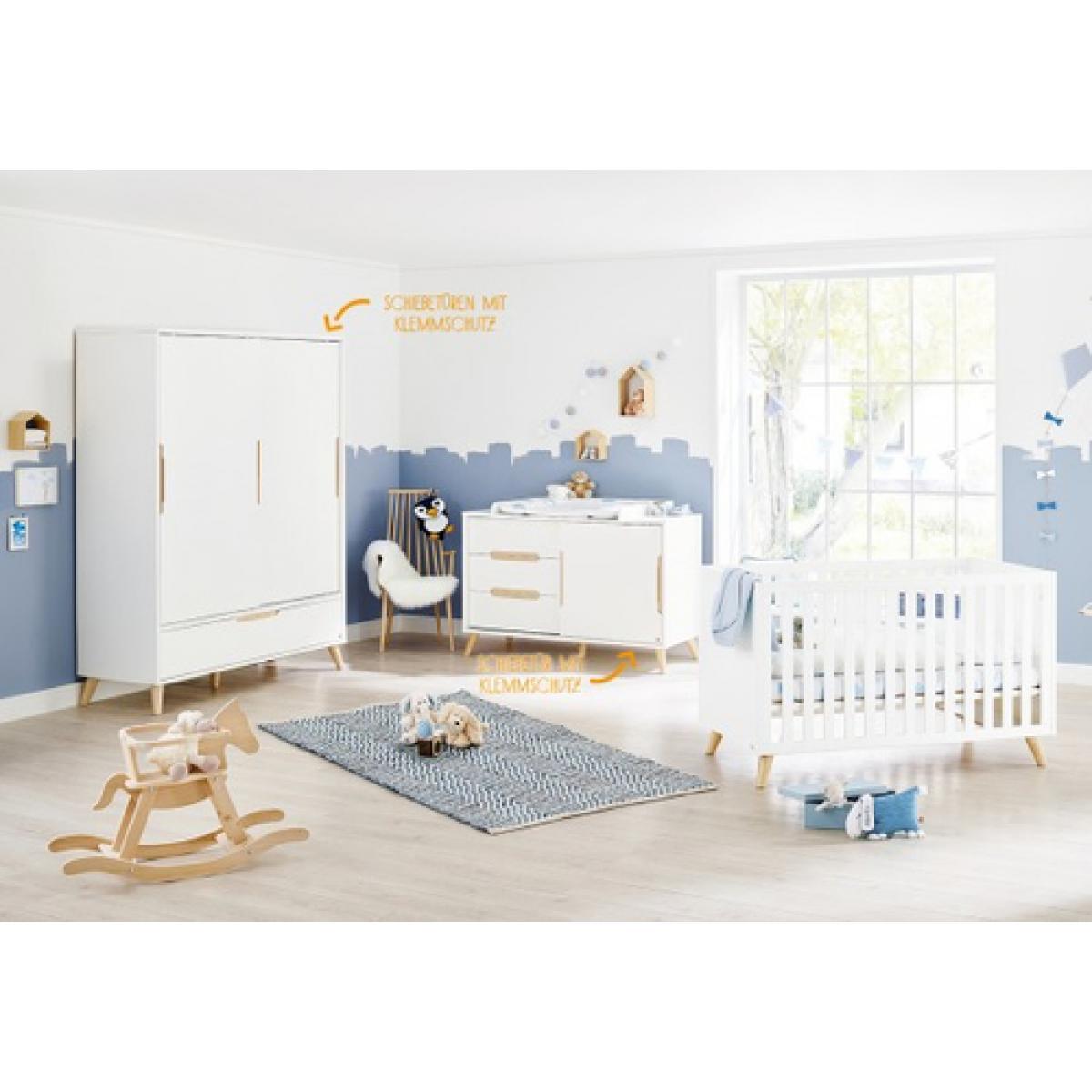 Pinolino Pinolino Chambre de bébé Move 3 pièces lit de bébé évolutif commode à langer armoire