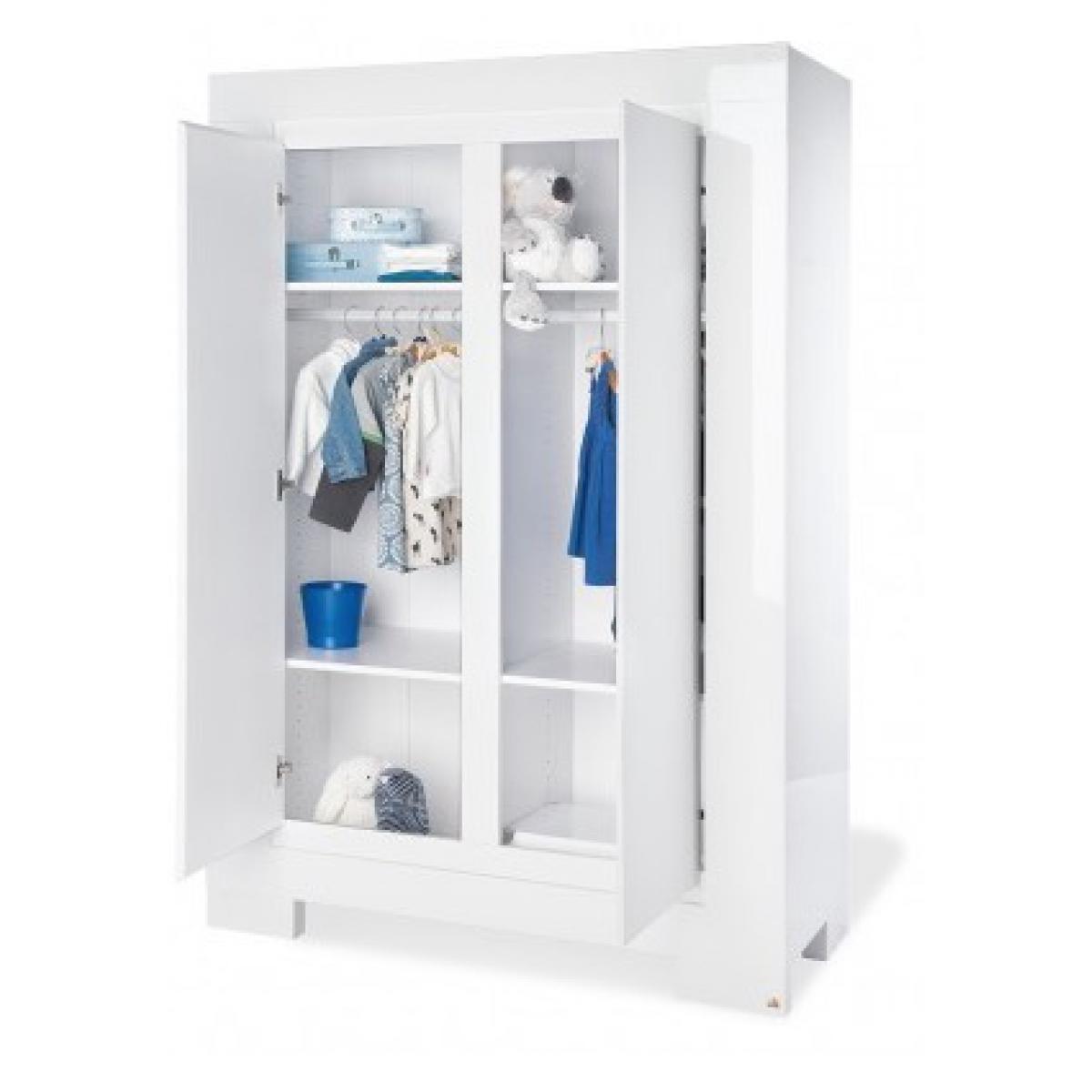 Pinolino Pinolino Chambre de bébé Sky 3 pièces lit de bébé évolutif commode à langer armoire à 2 portes