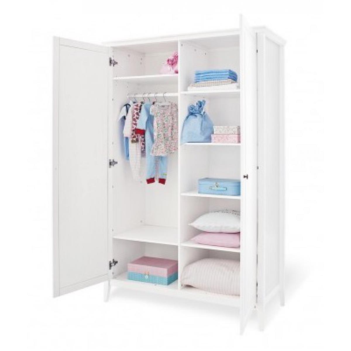 Pinolino Pinolino Chambre de bébé Smilla 3 pièces lit de bébé évolutif commode à langer armoire à 2 portes