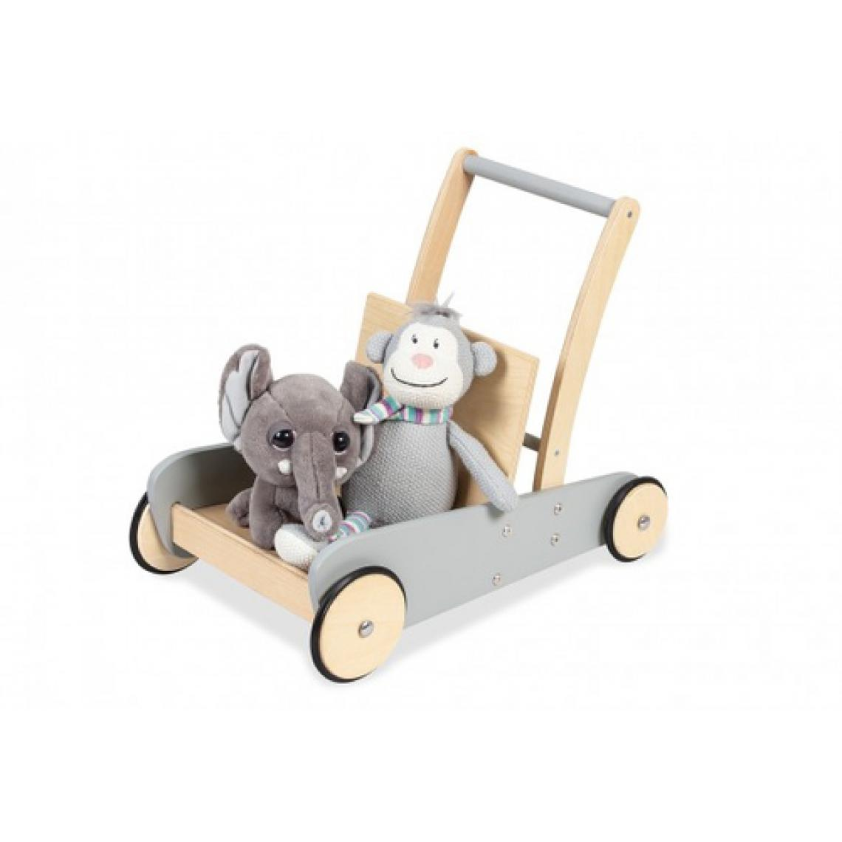 Pinolino Pinolino Chariot de marche gris Mats