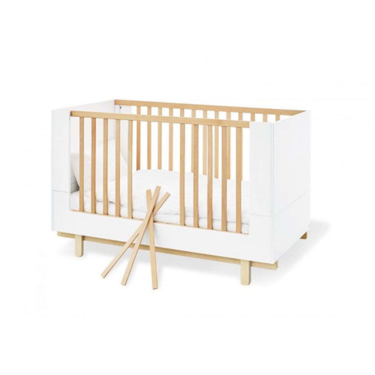Pinolino Pinolino Ensemble Economique Boks large 2 pièces lit de bébé évolutif commode à langer large