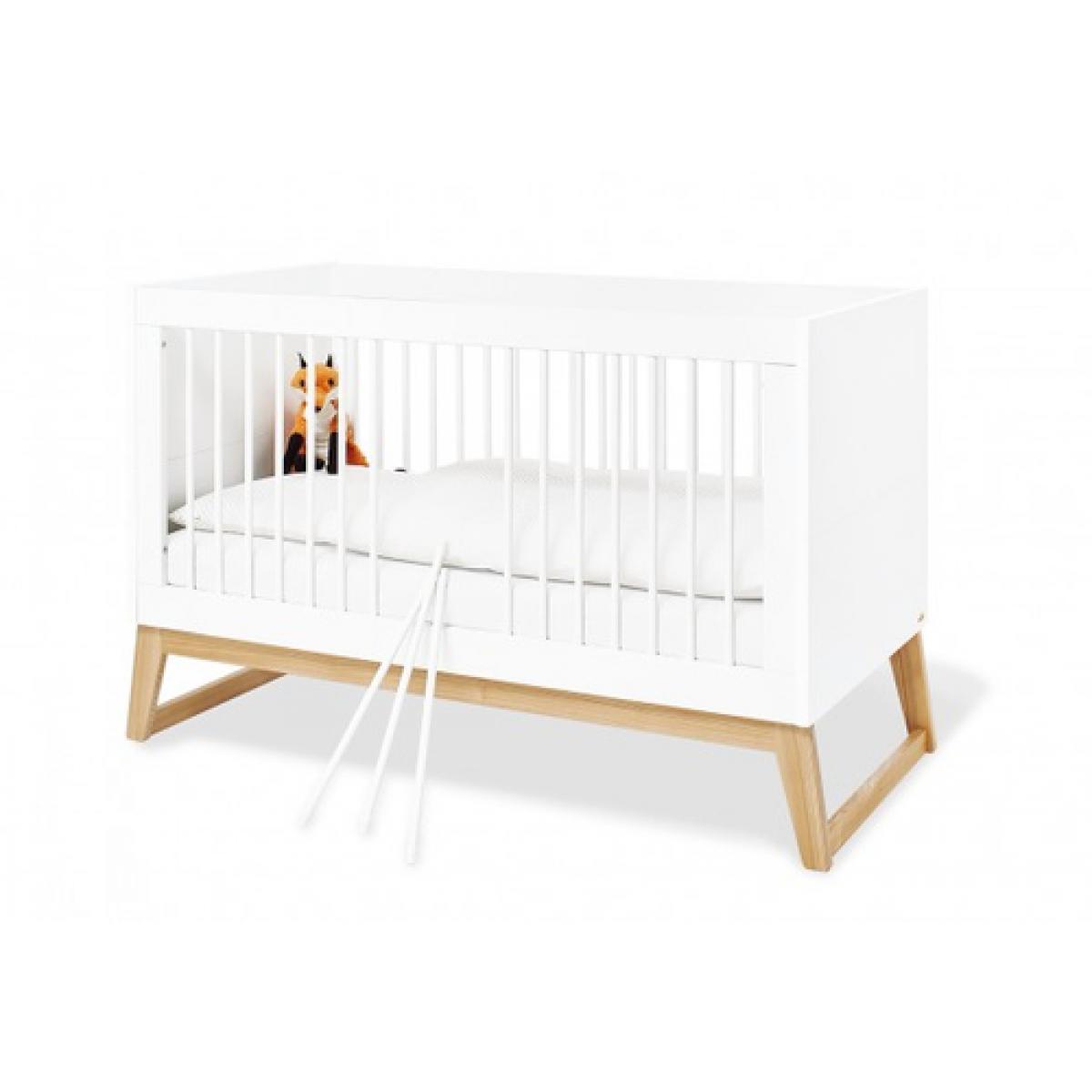 Pinolino Pinolino Ensemble Economique Bridge large 2 pièces lit de bébé évolutif commode à langer large