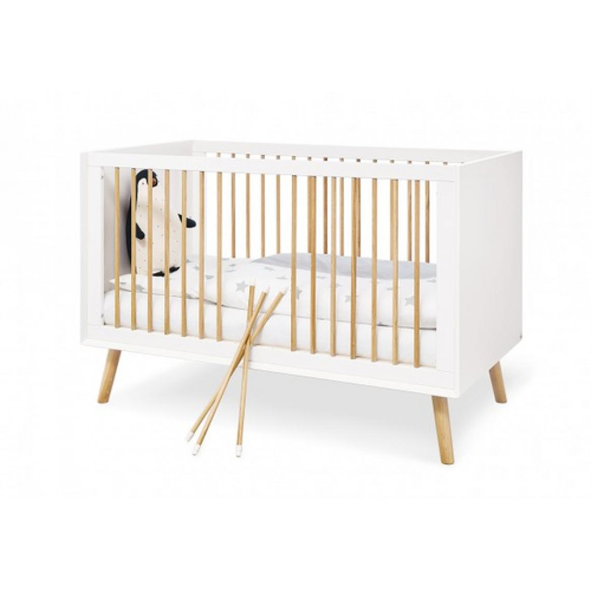 Pinolino Pinolino Ensemble Economique Edge 2 pièces lit de bébé évolutif commode à langer extra large