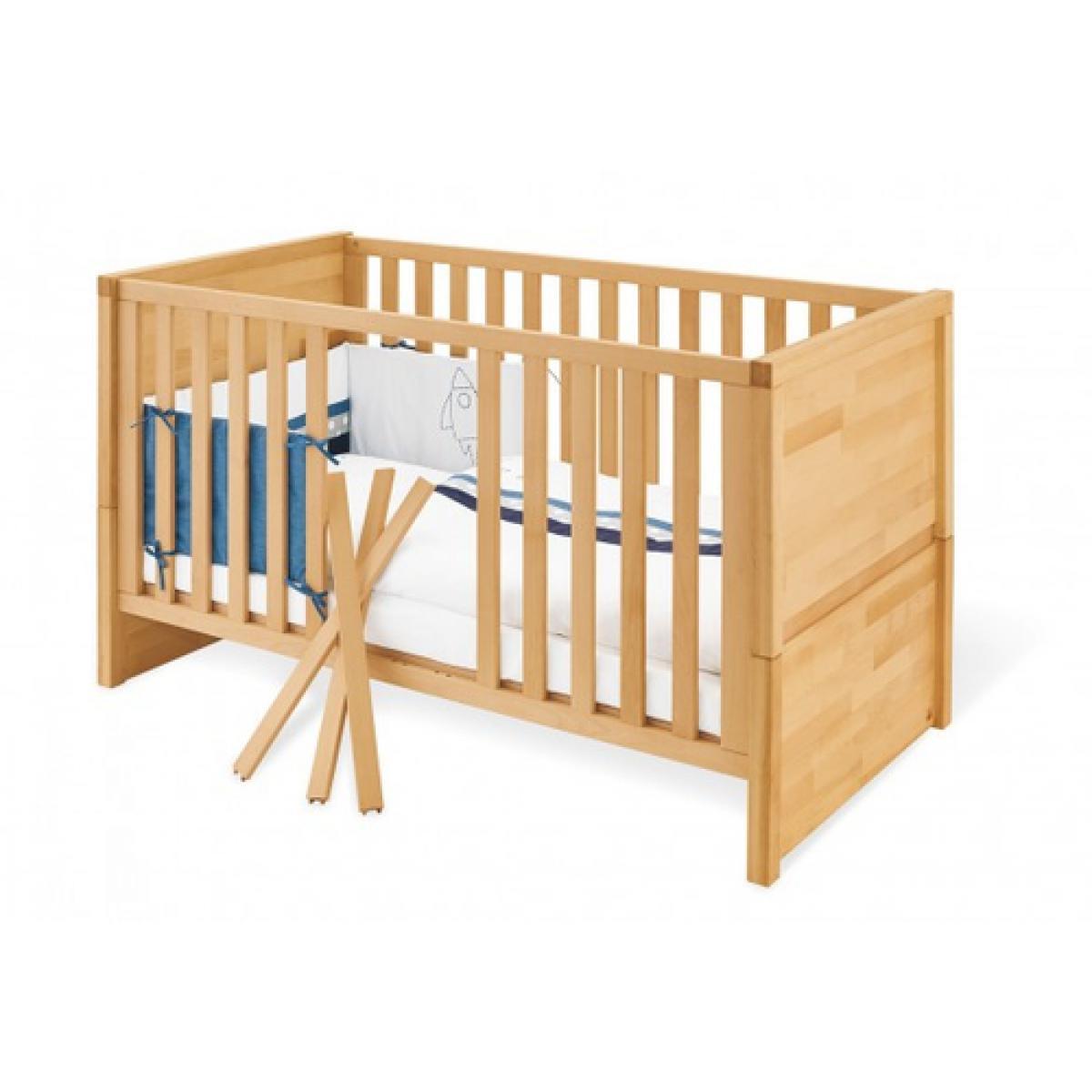 Pinolino Pinolino Ensemble Economique Fagus large 2 pièces lit de bébé évolutif commode à langer large