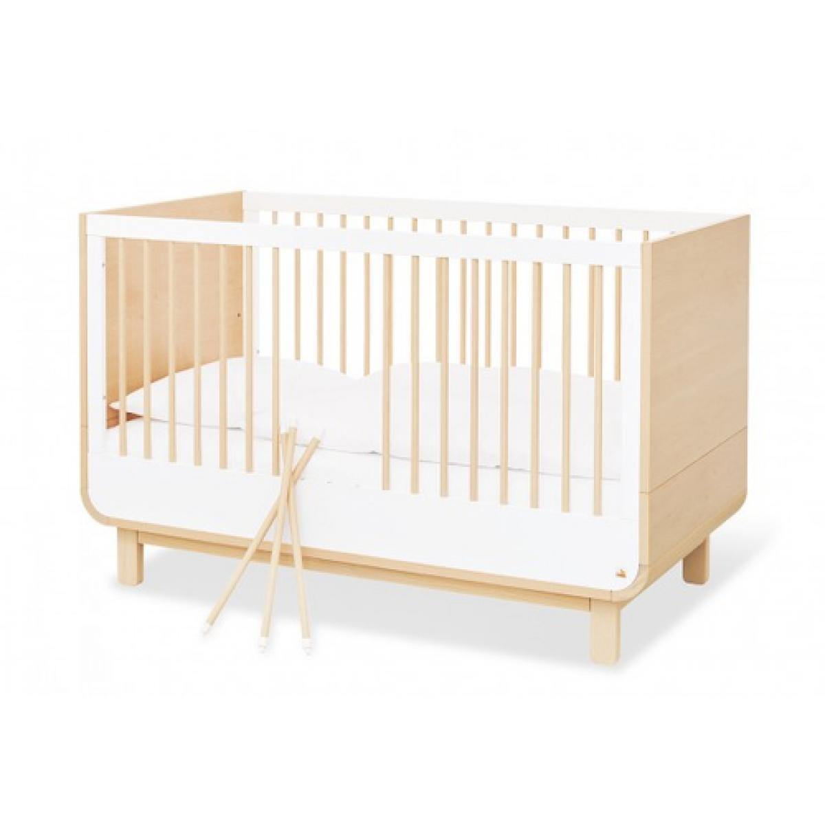 Pinolino Pinolino Ensemble Economique Round large 2 pièces lit de bébé évolutif commode à langer large