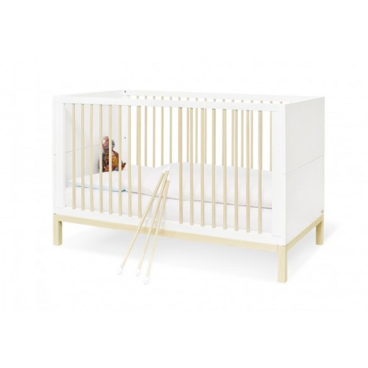Pinolino Pinolino Ensemble Economique Skadi large 2 pièces lit de bébé évolutif commode à langer large