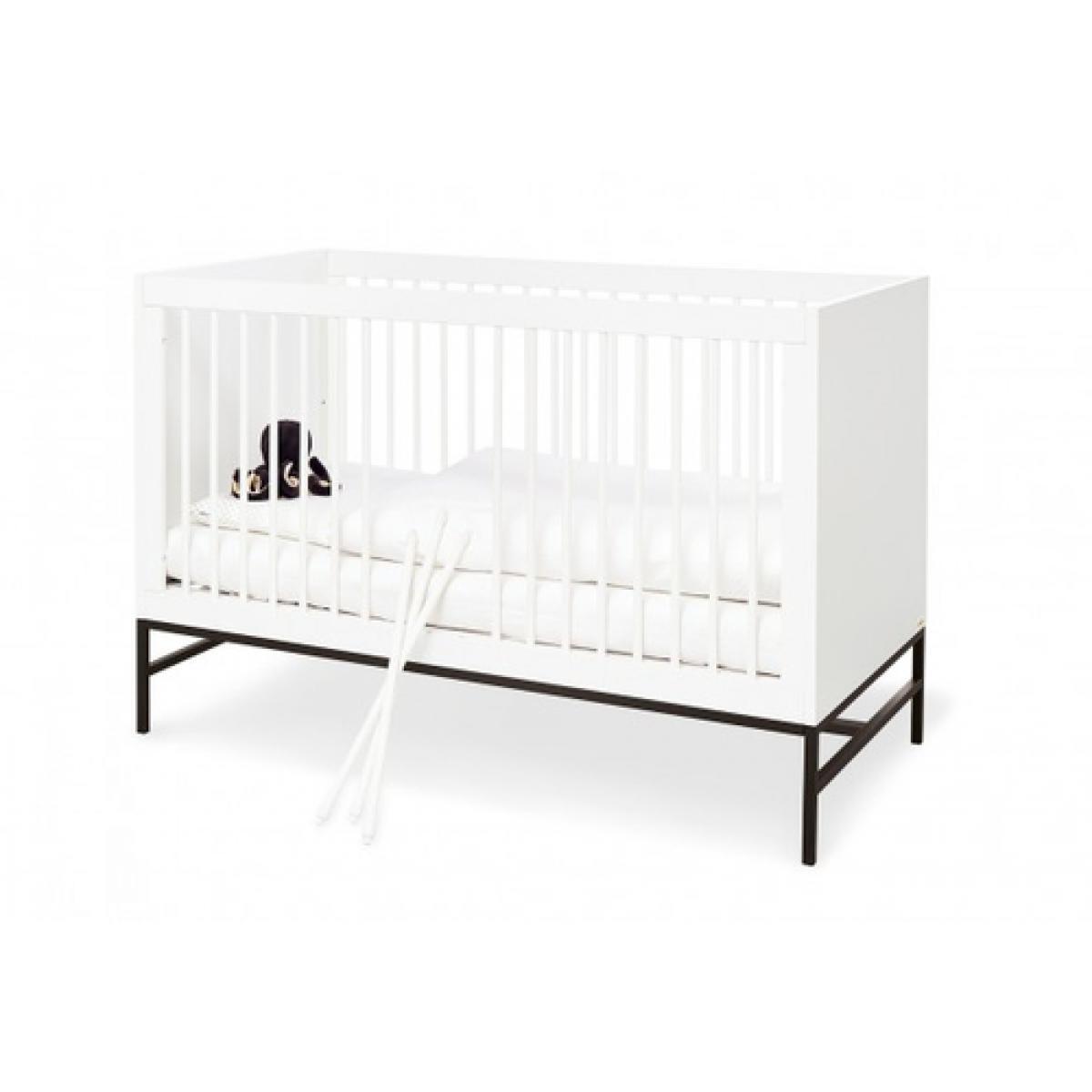 Pinolino Pinolino Ensemble Steel extra large 2 pièces lit de bébé évolutif commode à langer extra large