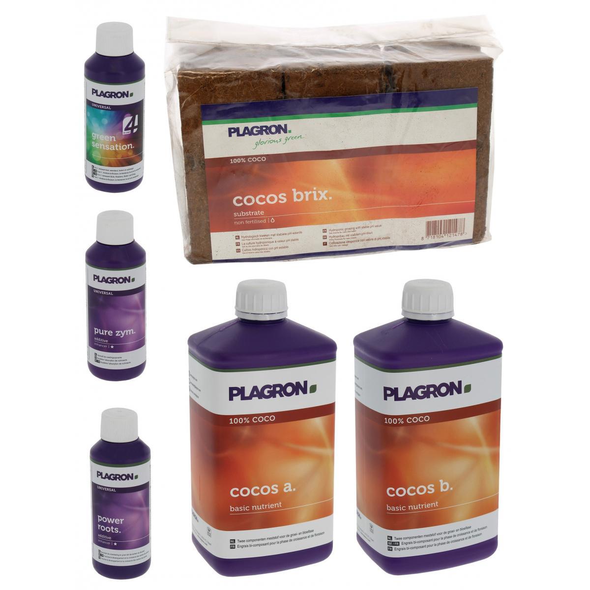 Plagron Pack Coco Brix 54 litres PLAGRON + engrais et stimulants