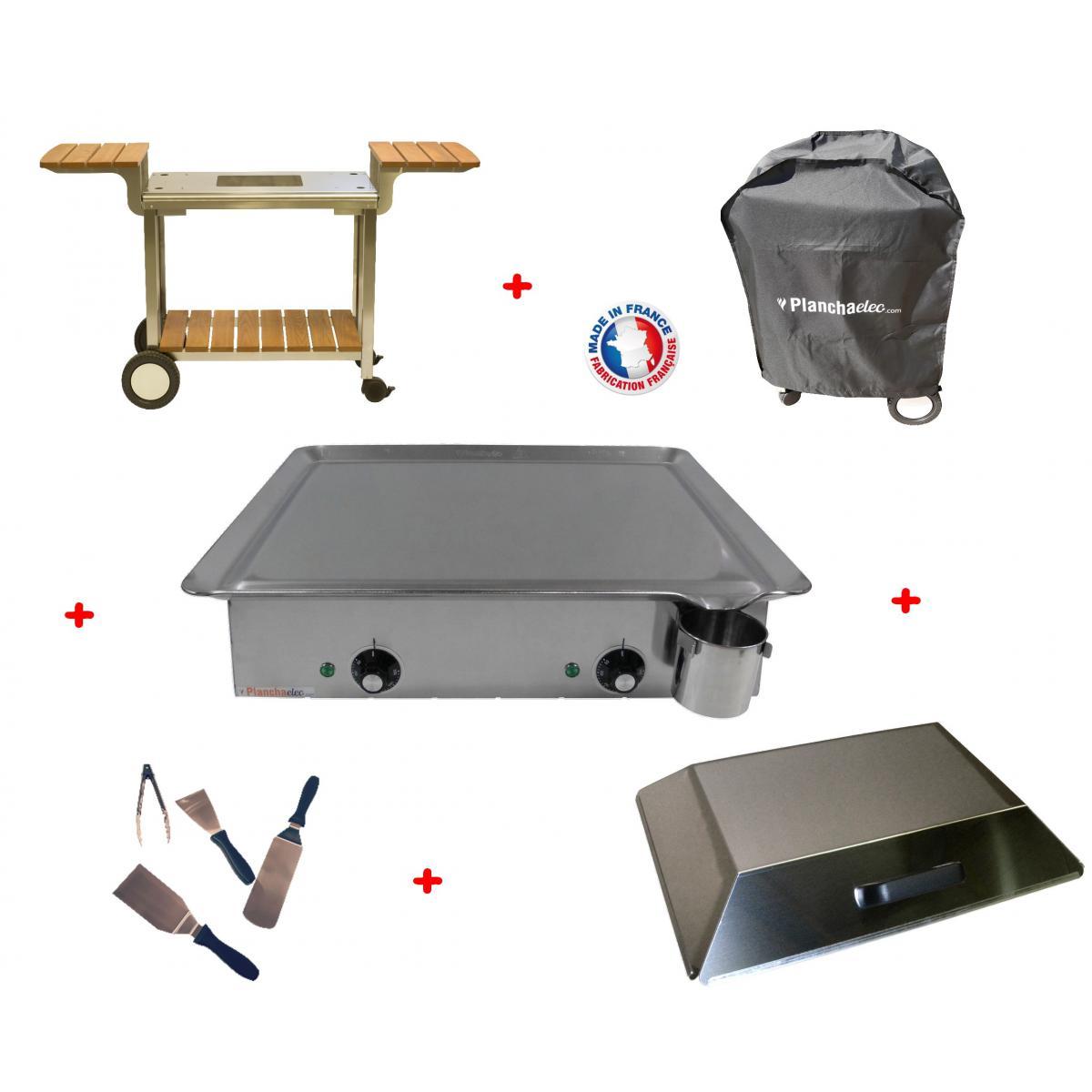 Planchaelec Pack plancha électrique PLANCHAELEC CLASSIC 600 INOX - CHARIOT ELYSEE 600