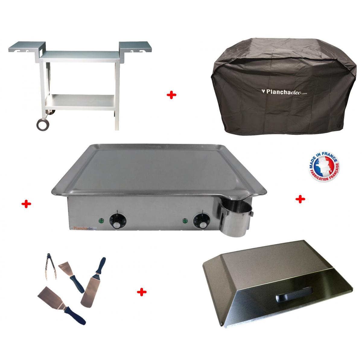 Planchaelec Pack plancha électrique PLANCHAELEC CLASSIC 600 INOX - CHARIOT ODEON 600