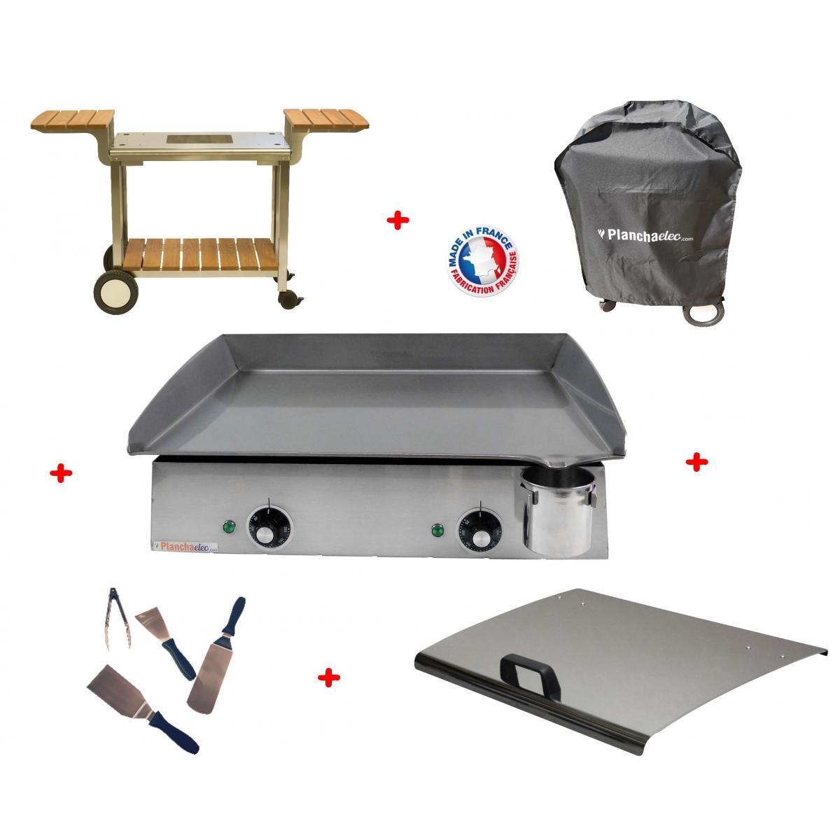 Planchaelec Pack plancha électrique PLANCHAELEC LUX 600 INOX - CHARIOT ELYSEE 600
