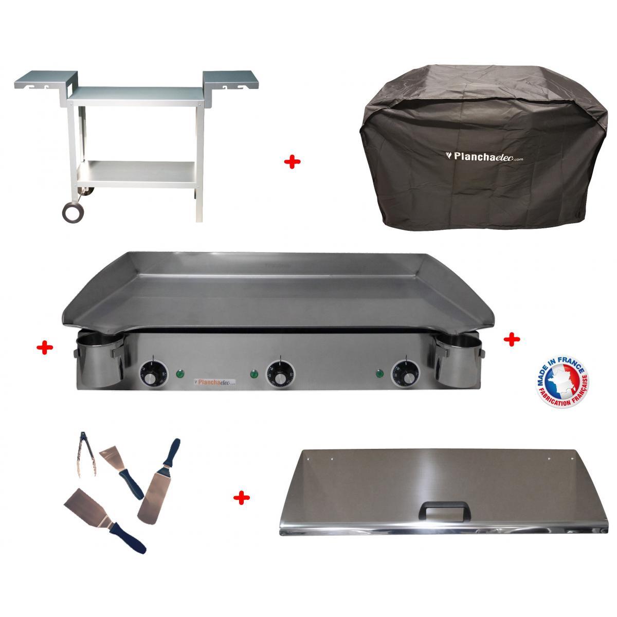 Planchaelec Pack plancha électrique PLANCHAELEC LUX 830 INOX - CHARIOT ODEON 830