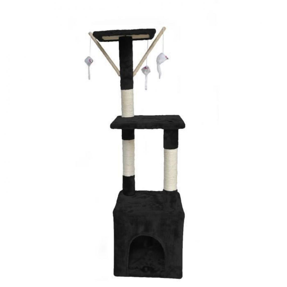 Poils And Plumes POILS + PLUMES Arbre a chat OMalley - 30 x 30 x 110 cm - Noir