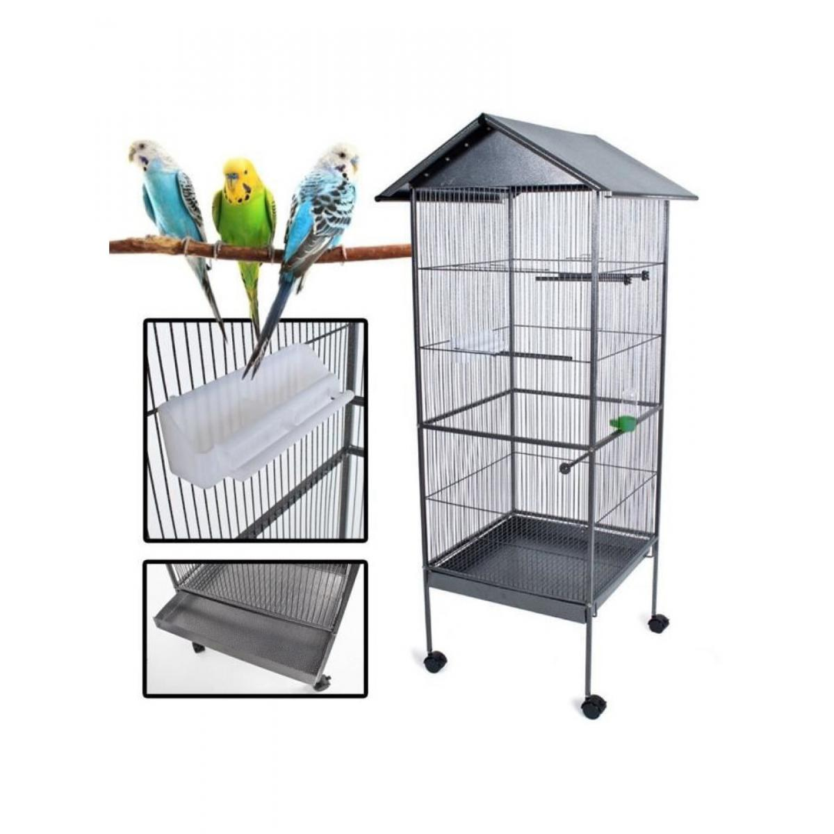 Poils And Plumes POILS & PLUMES OISEAU Cage a oiseau KUIKUI en métal - Hauteur 155 cm