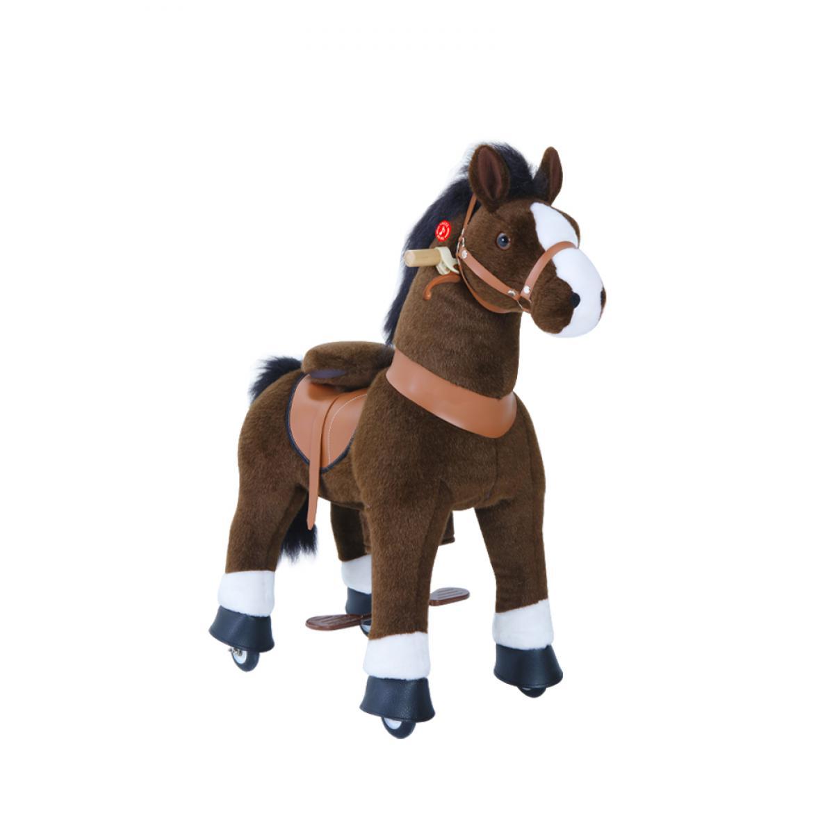 Ponycycle PonyCycle Poney à monter Brun chocolat avec sabot blanc Petit Modèle pour 3 à 5 ans