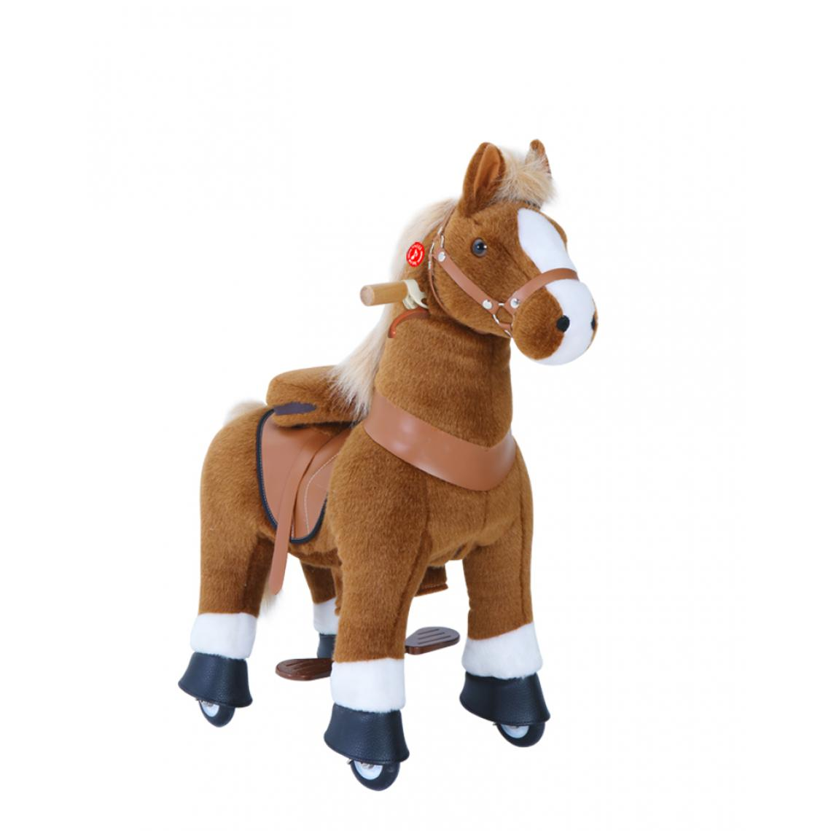 Ponycycle PonyCycle Poney à monter Marron avec sabot blanc Petit Modèle pour 3 à 5 ans