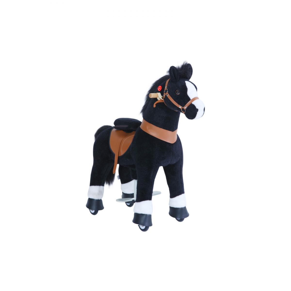 Ponycycle PonyCycle Poney à monter Noir avec sabot blanc Petit Modèle pour 3 à 5 ans