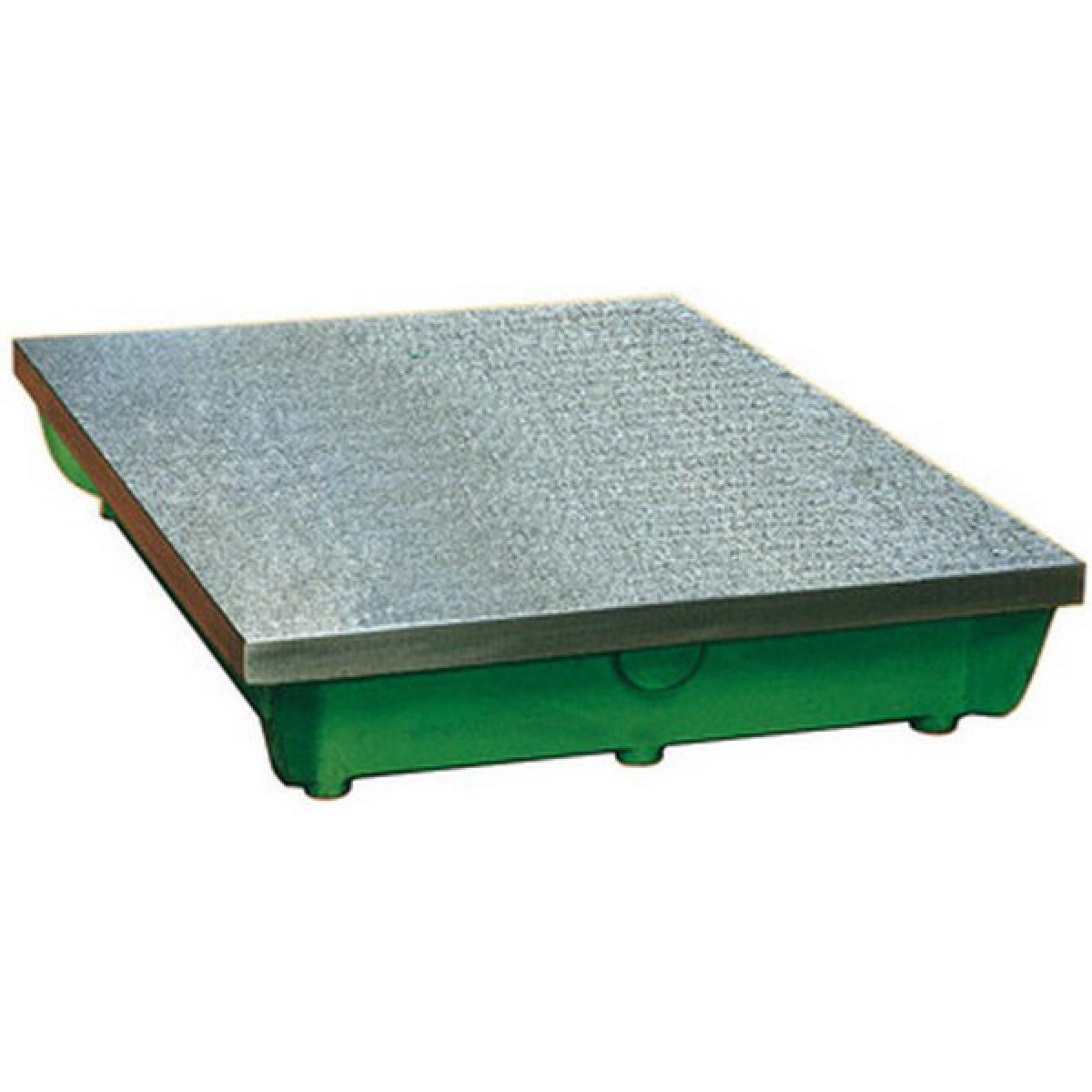 Protec Plaque à tracer et à dresser, qualité 3, Taille : 400 x 400 mm, Précision µm qualité 3 56, Poids env. 35 kg
